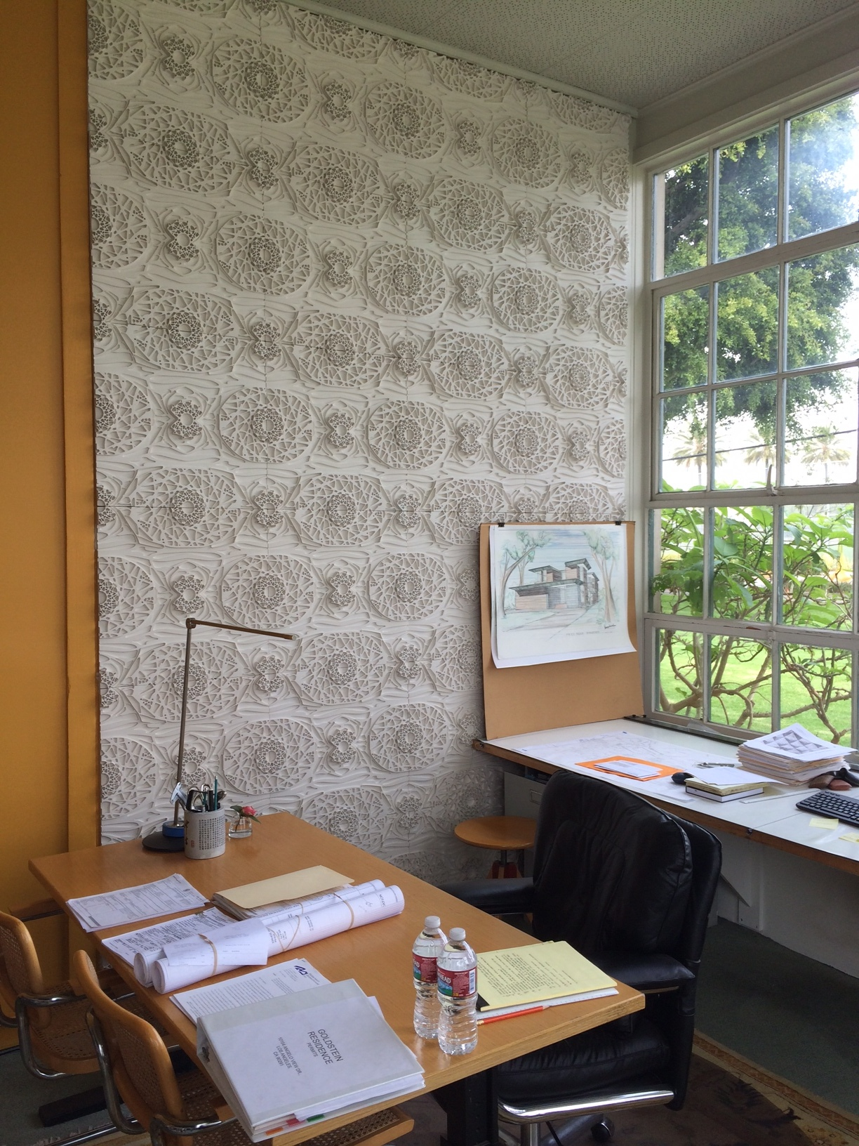 Duncan Nicholson's office with featured tile wall