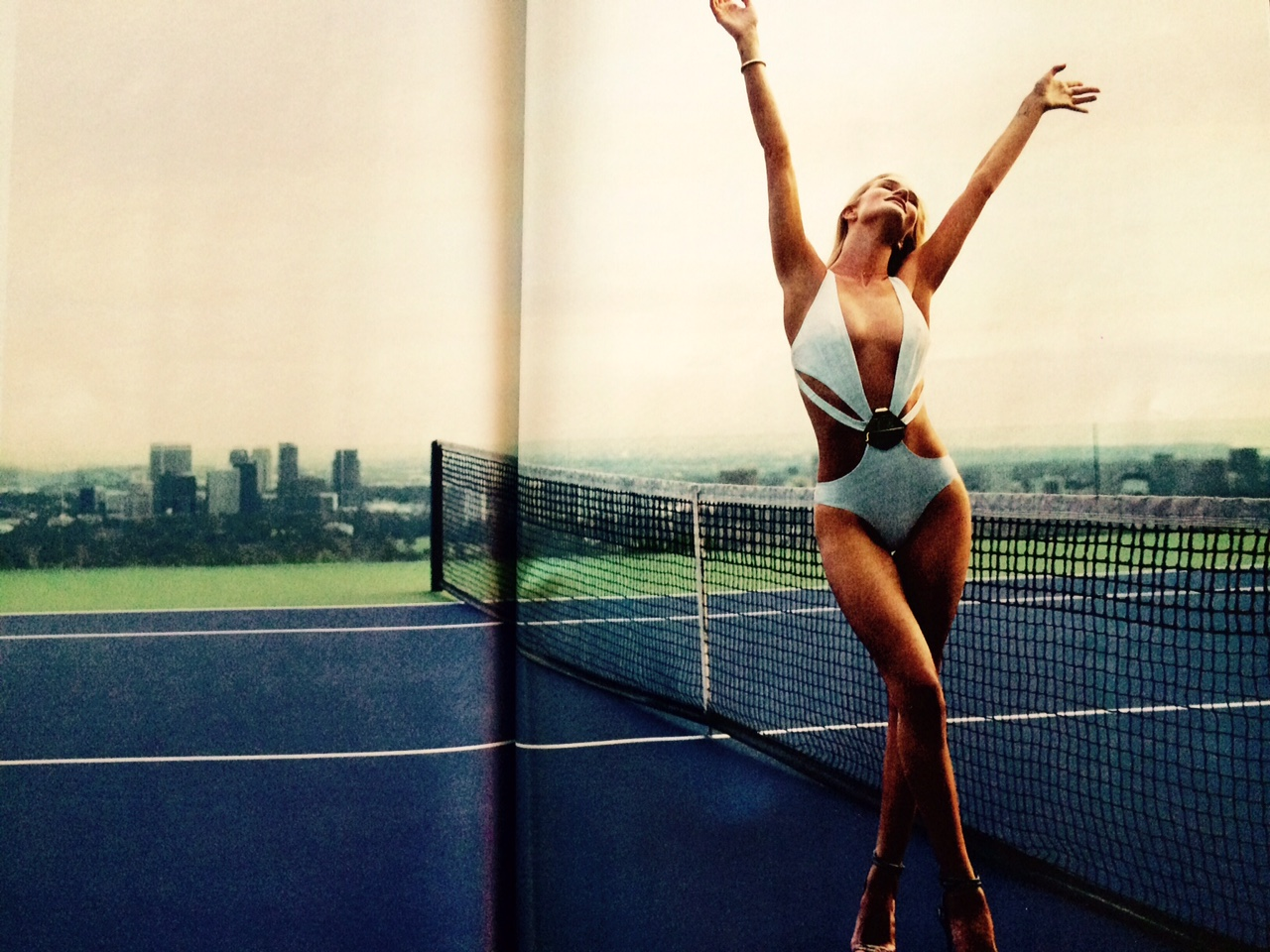 Goldstein Tennis Court in Esquire Magazine April 2015