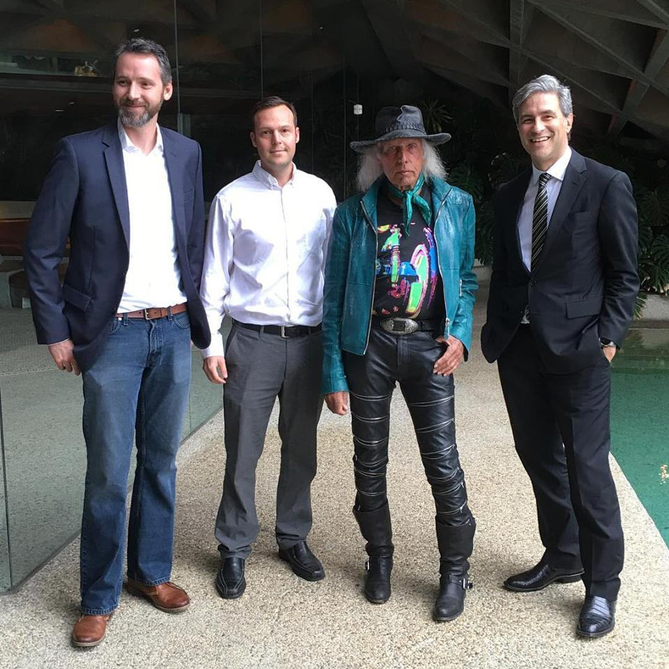 Architect Kristopher Conner, Architect James Perry, Owner James Goldstein, and Director of LACMA Michael Govan
