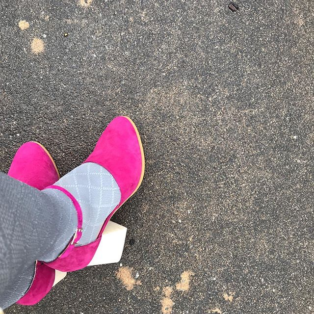 Bestie-gift shoes, on an otherwise humorless day. @mamiemorgan