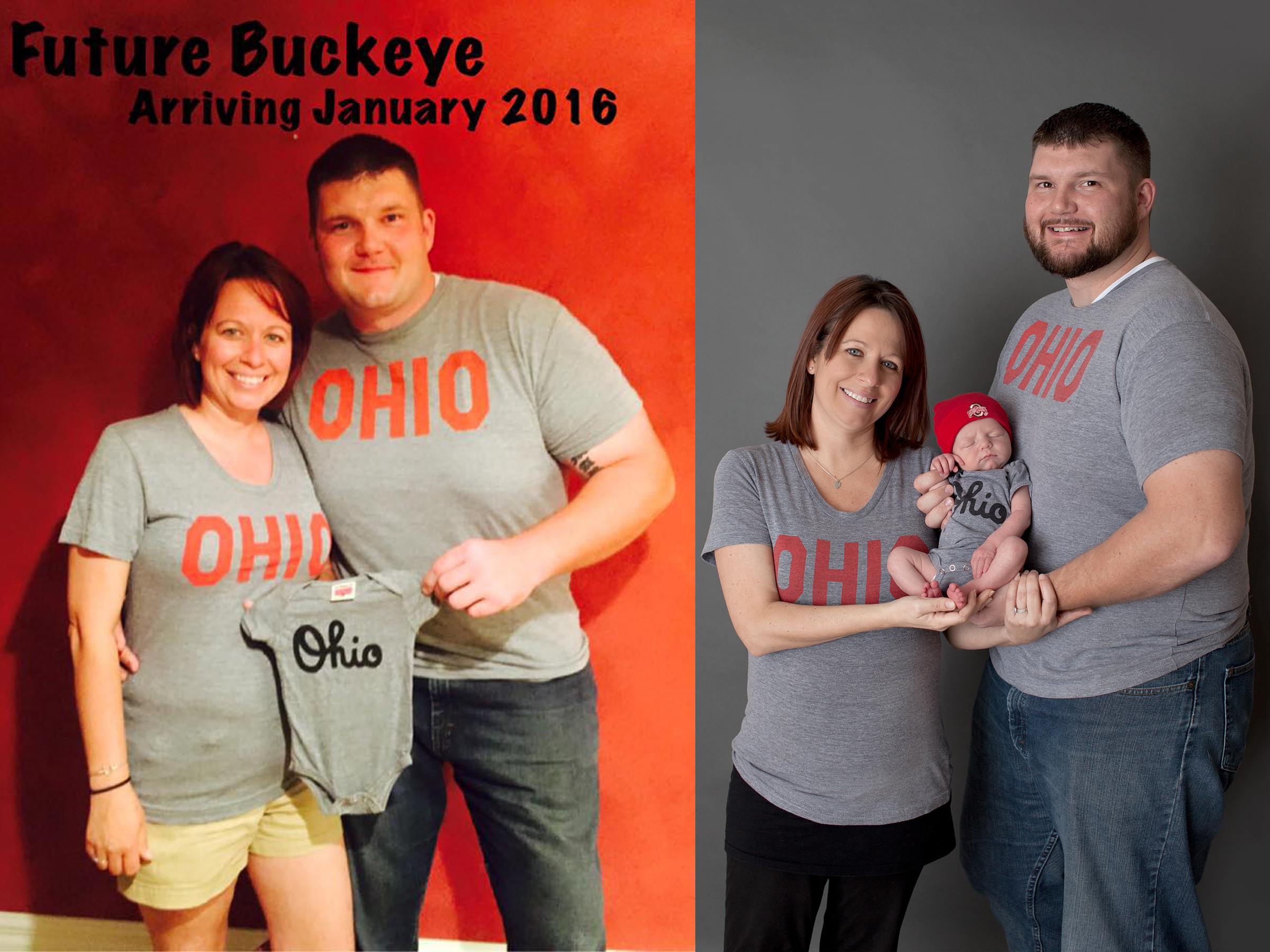 Columbus Ohio professional portrait photographer. Newborn baby photography. Before and After.
