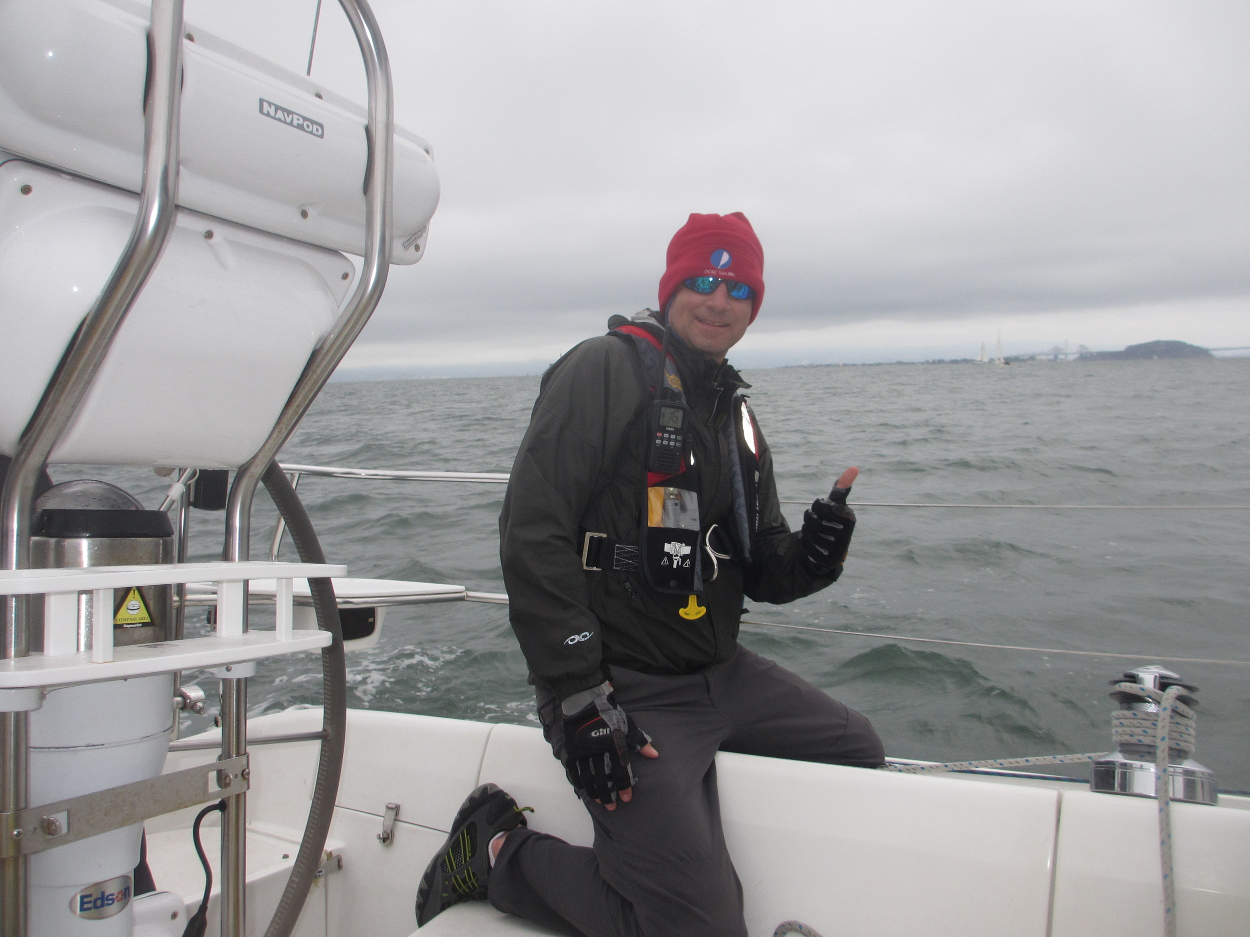This is me - sailing on the San Francisco Bay!