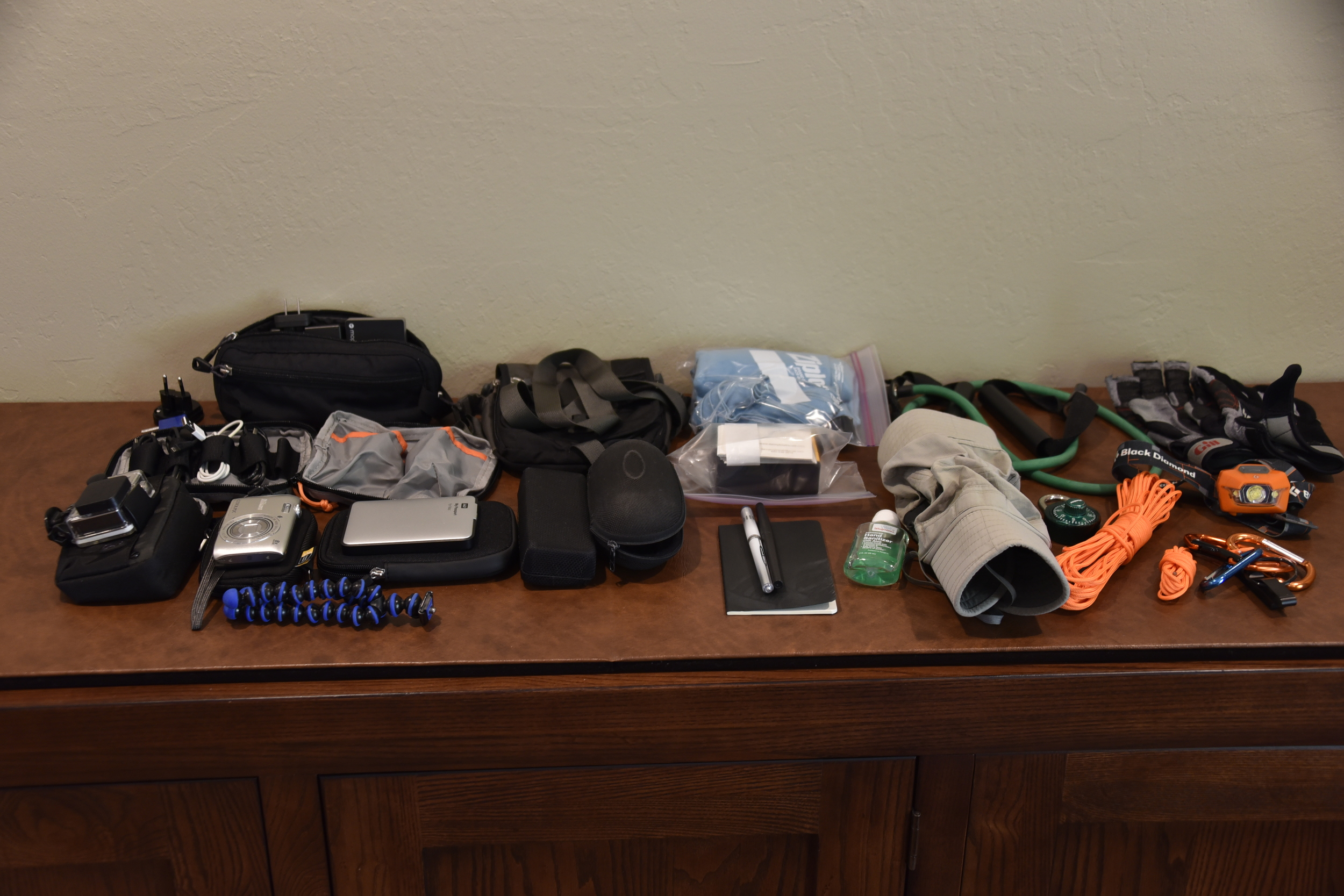 Lots of extra gear! DBT is always prepared.