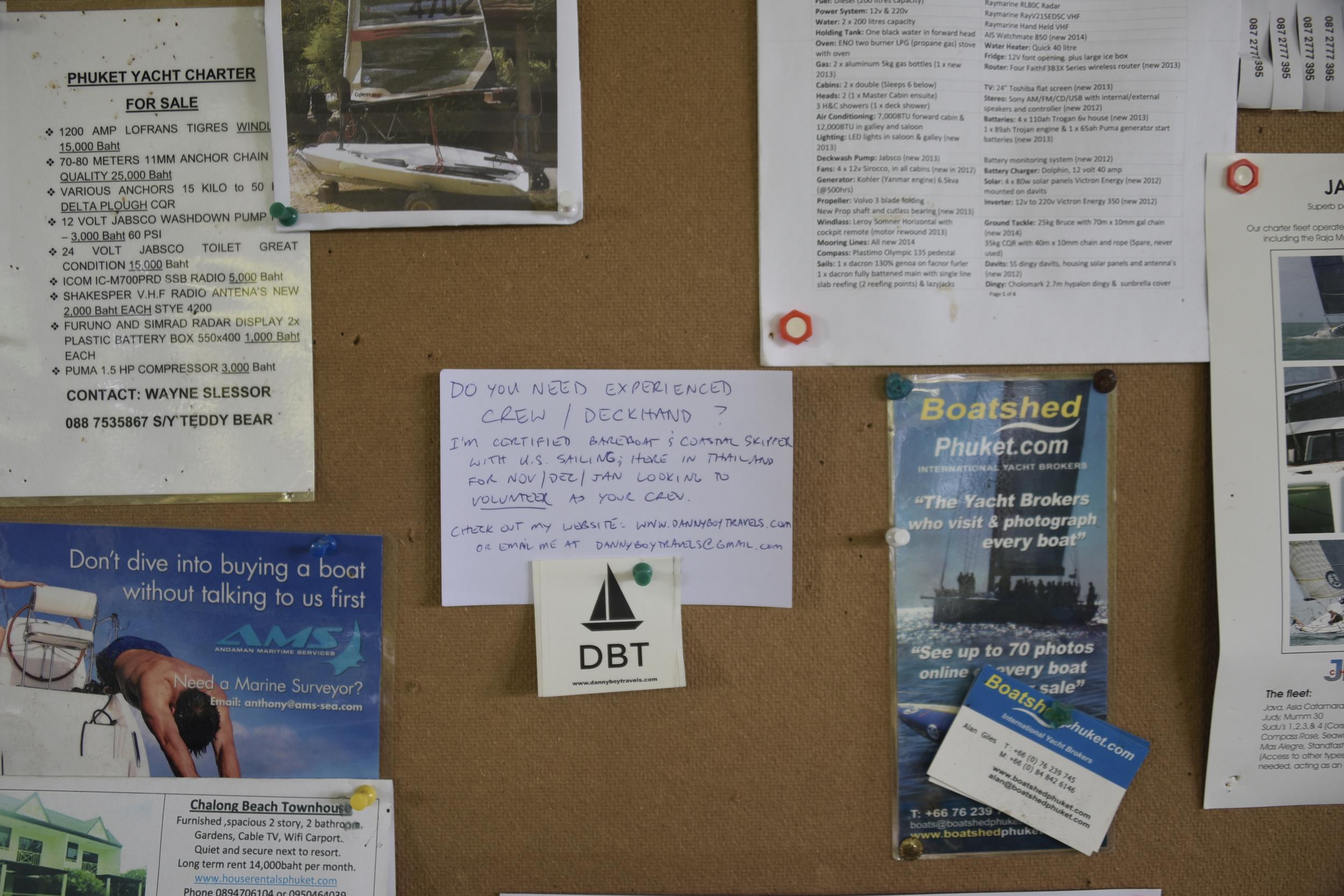 My posting at Phuket Yacht Club.