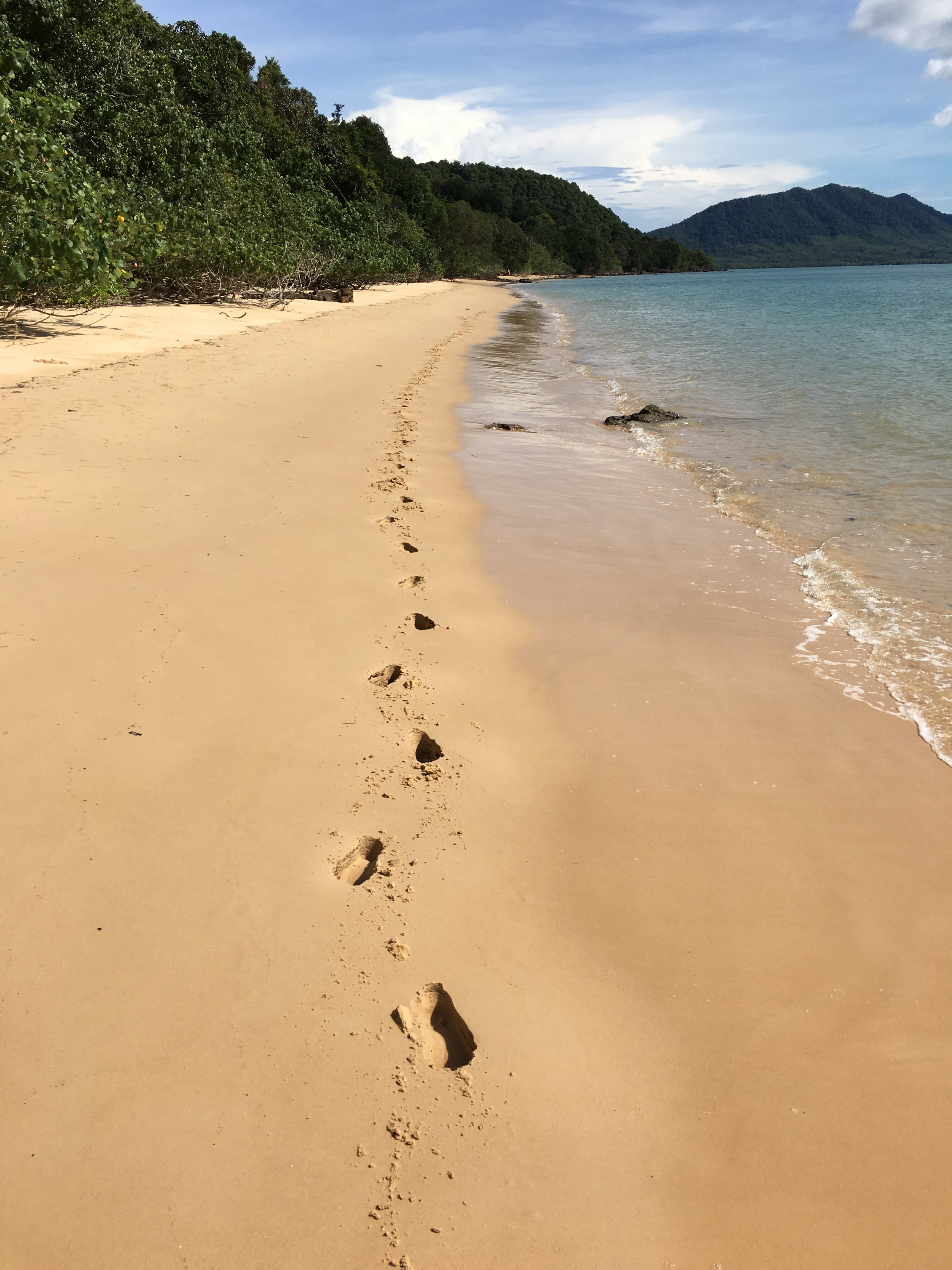 Only my footprints in the sand. I didn't see a single person on the beach the whole afternoon.