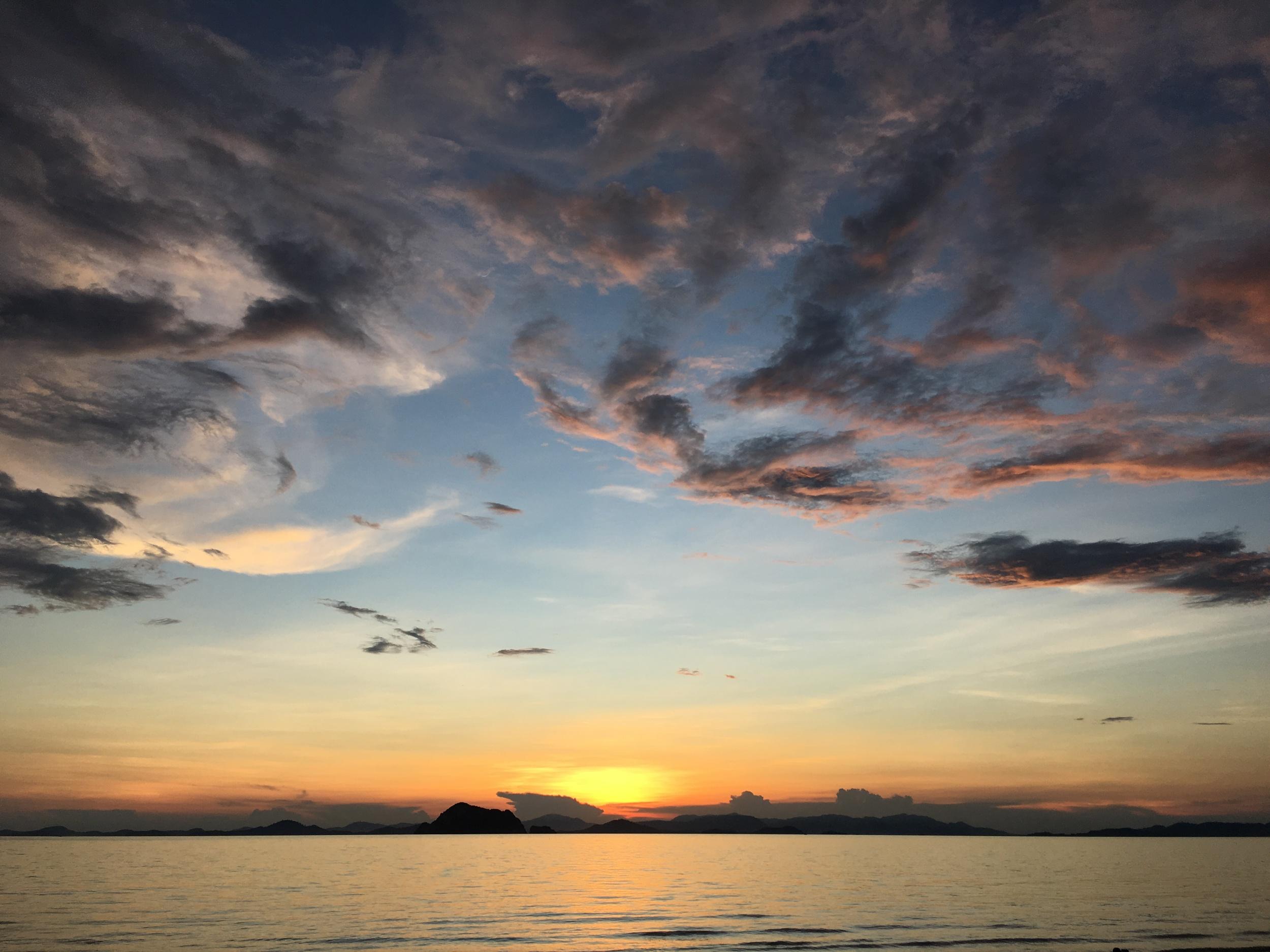 One of the many amazing sunsets.