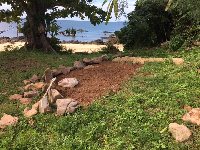 "Breaking ground on project ""Sunset Suds.""  This is going to be a great little beach bar... eventually.  Right now it requires a little imagination..."