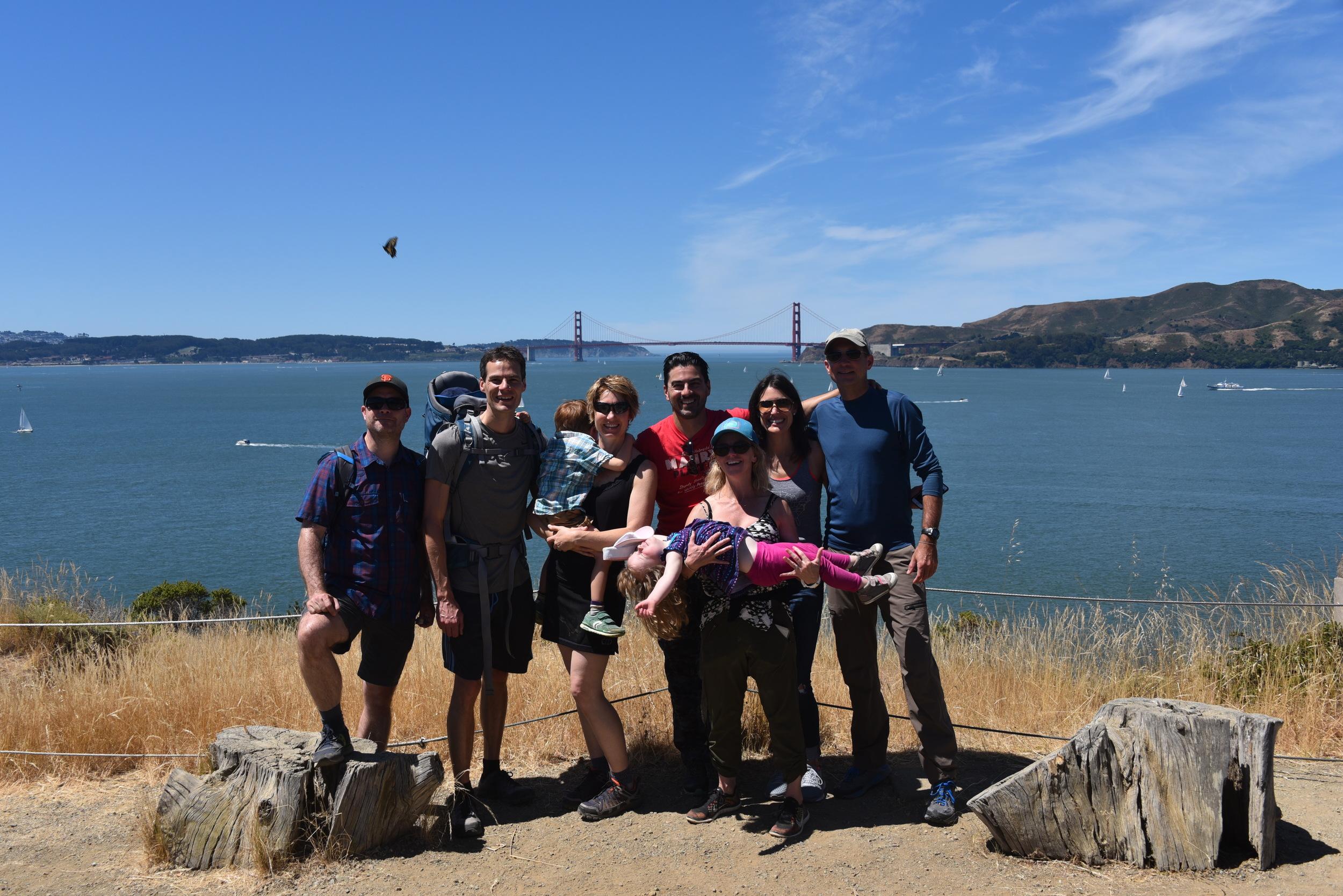 Great friends, great day, on Angel Island, San Francisco.