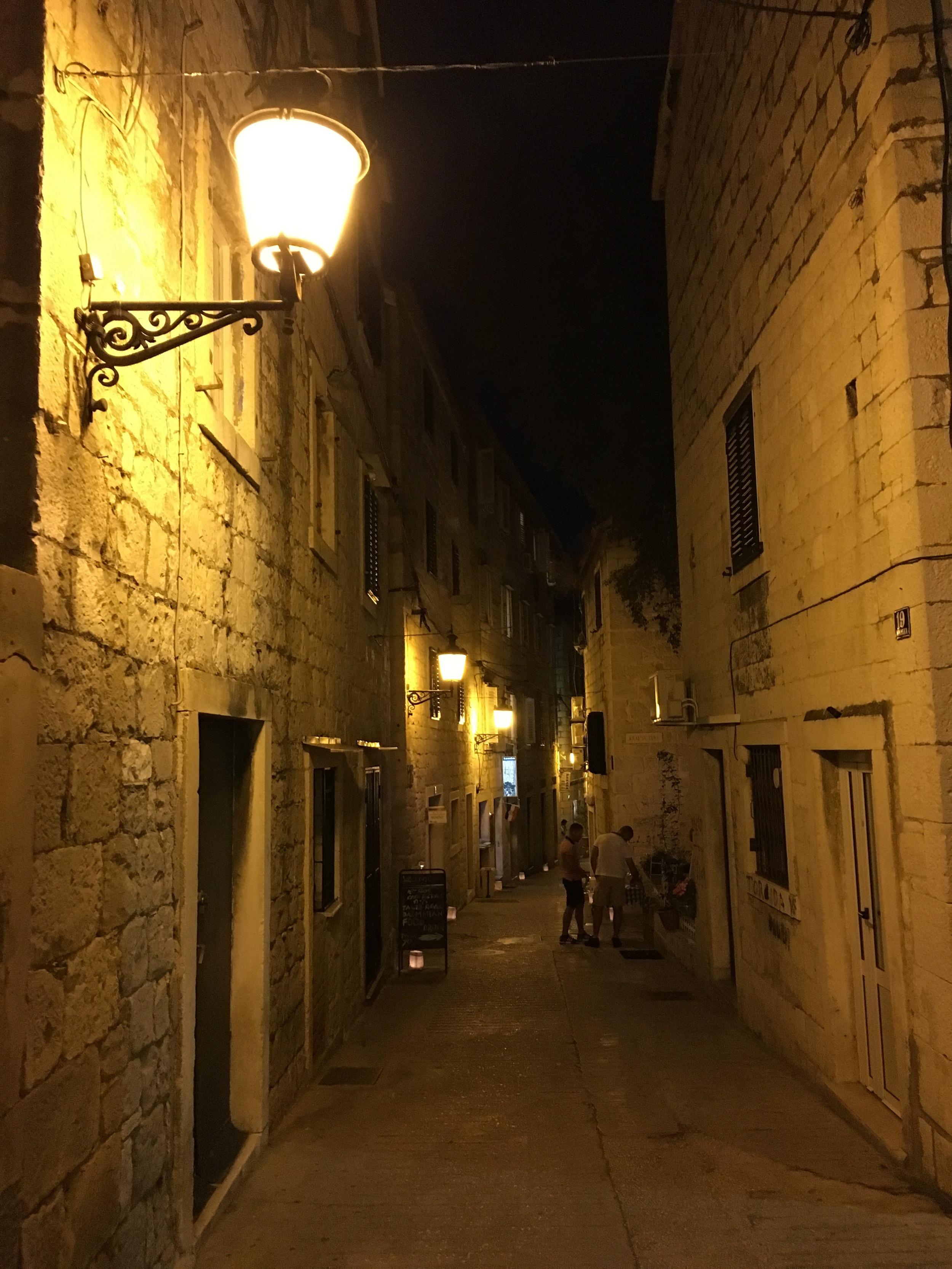 Evening walk through the narrow streets.