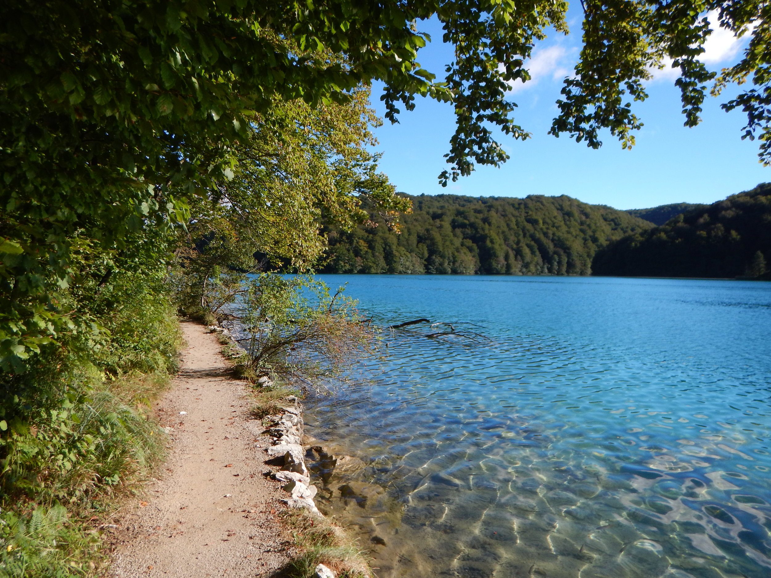 Plitvice Lakes National Park - the trail along one of the 16 lakes in the park.