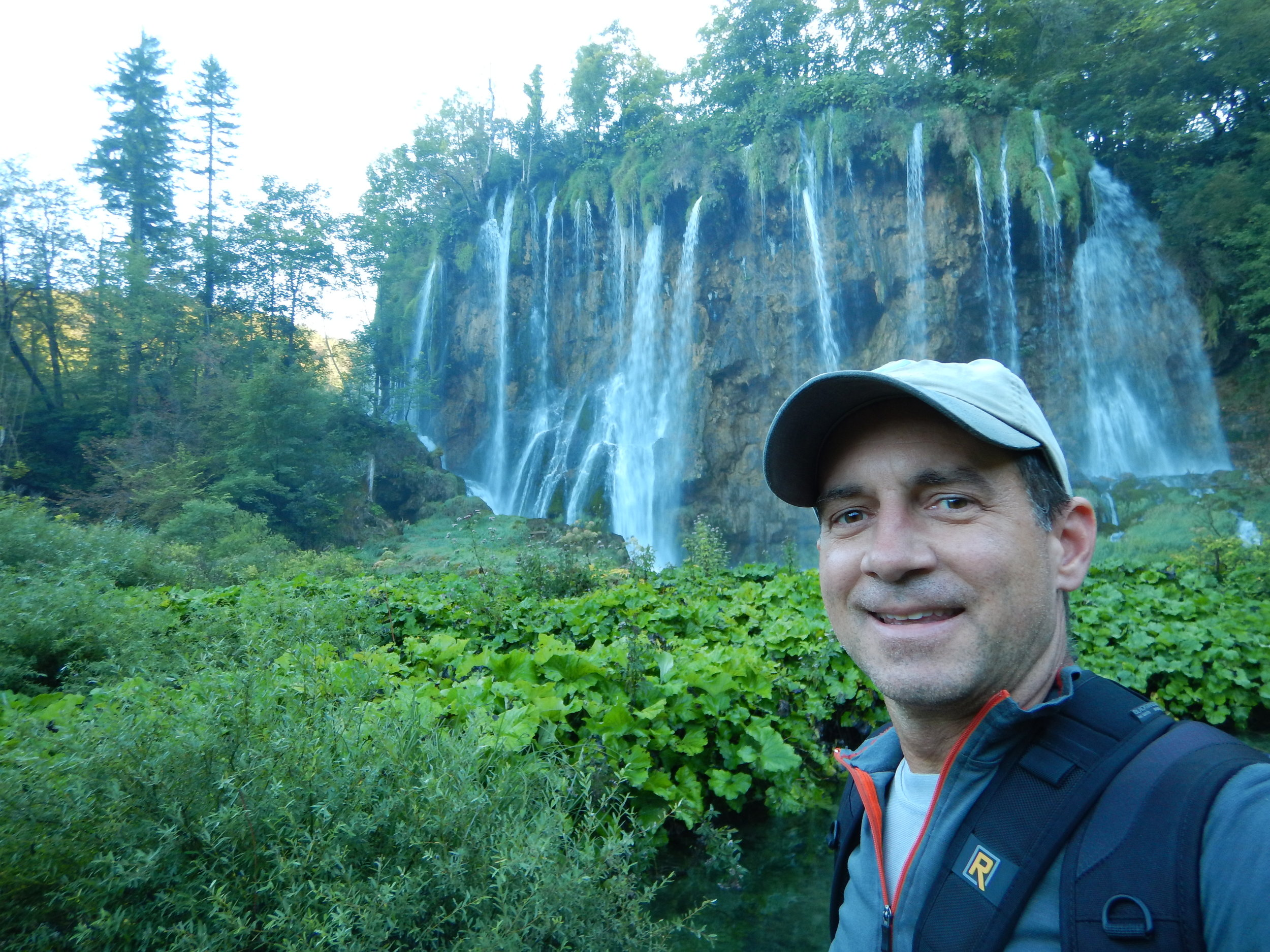 Plitvice Lakes National Park - me in front of one of the many waterfalls.