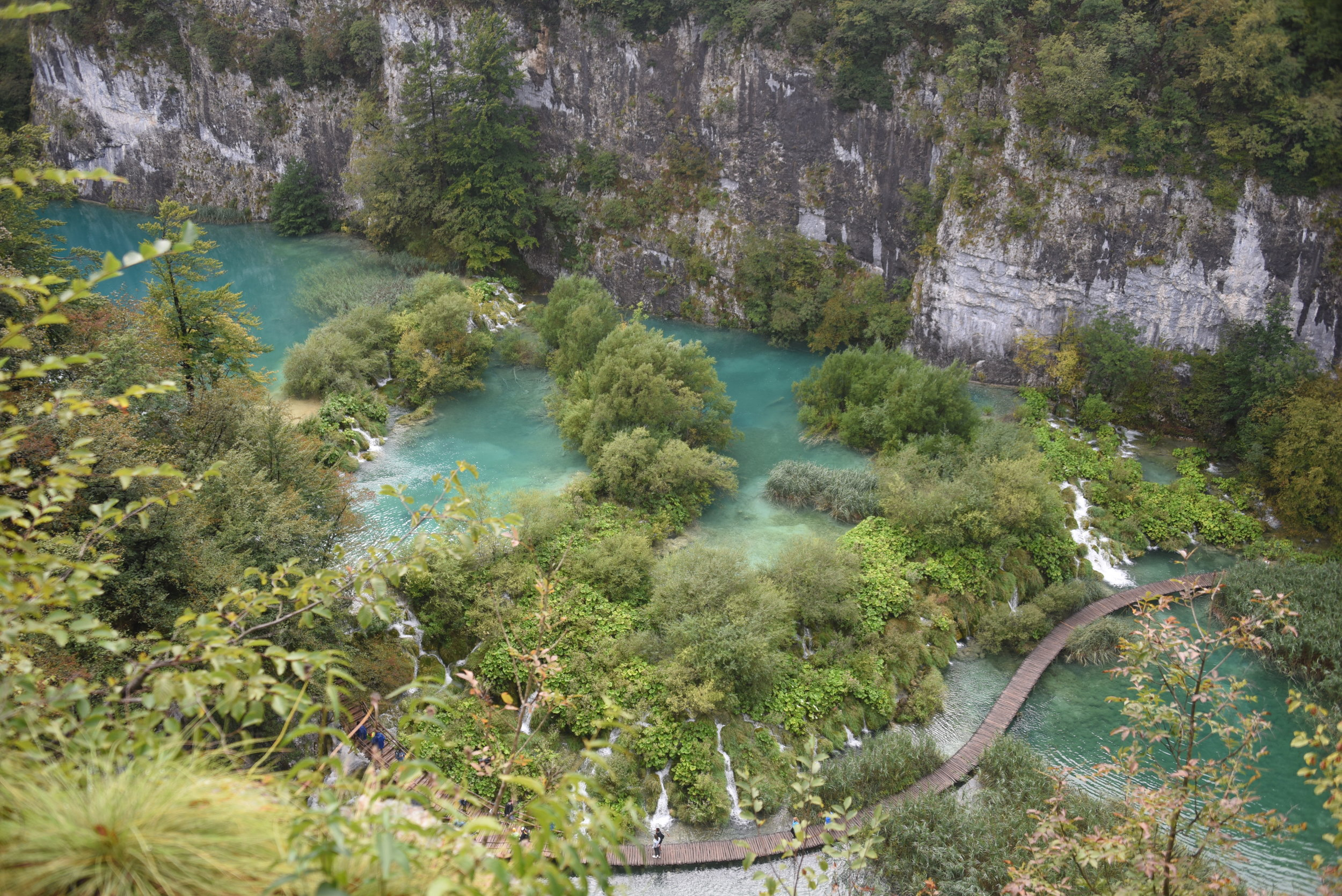 Plitvice Lakes National Park - from the cliffs above.