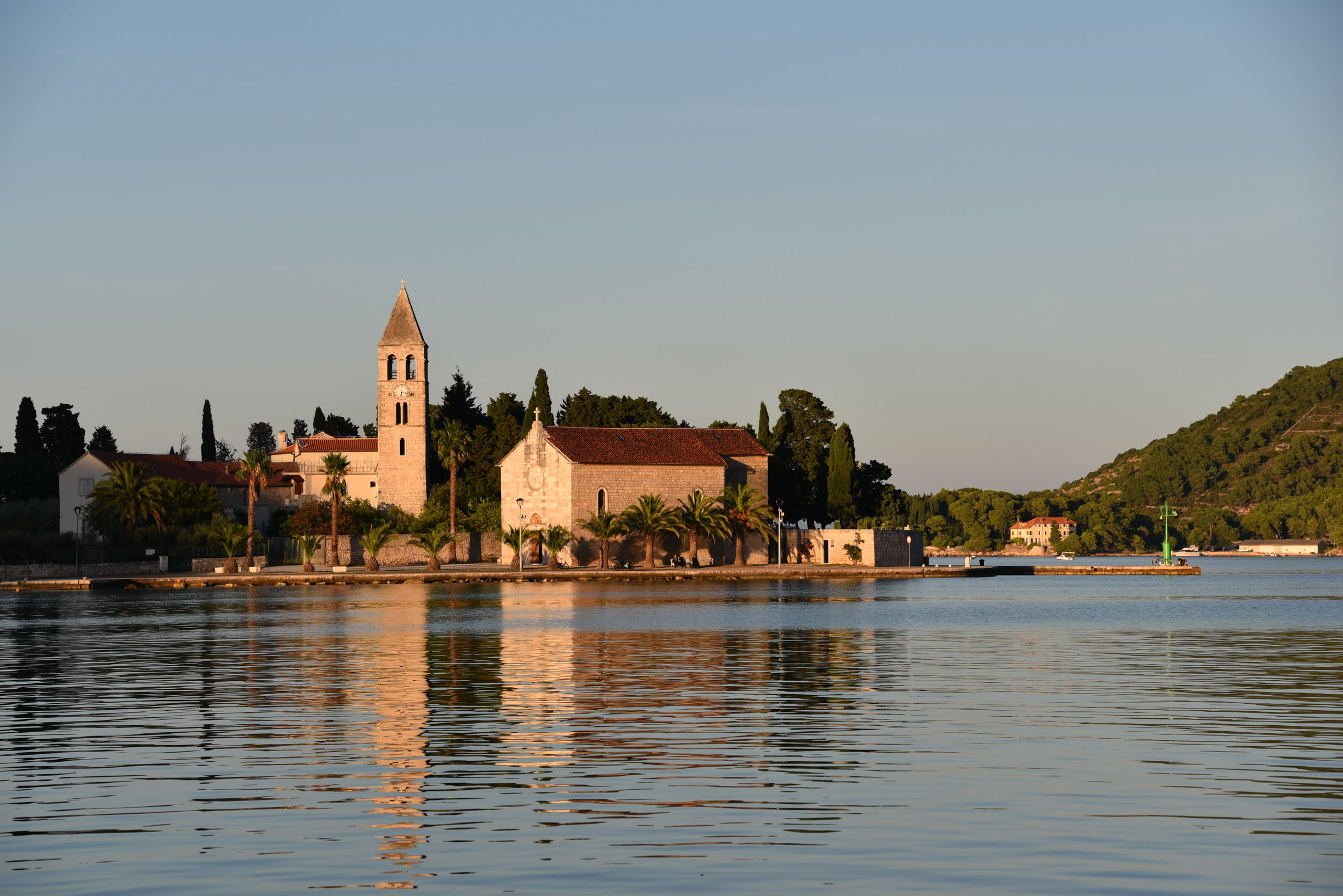 The church across the harbor in Vis Town.