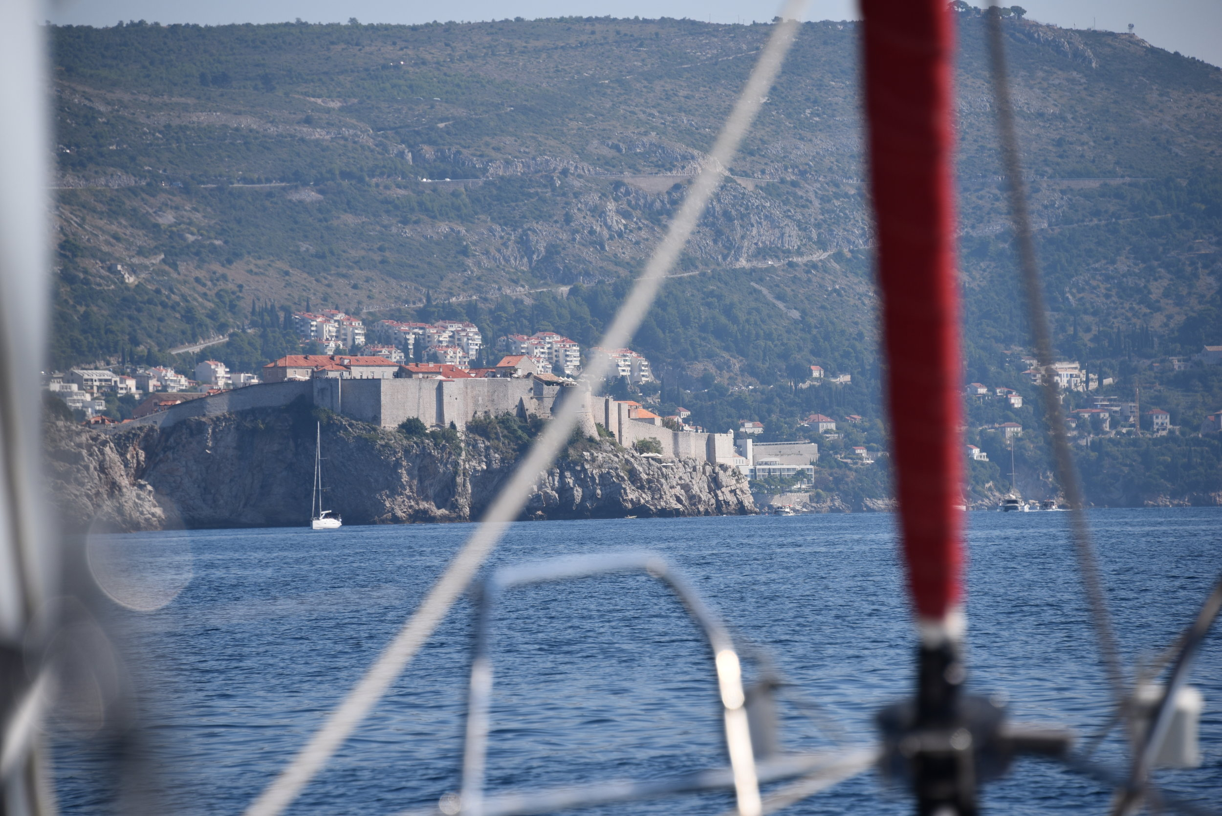 The approach to Old Town Dubrovnik. Magnificent!