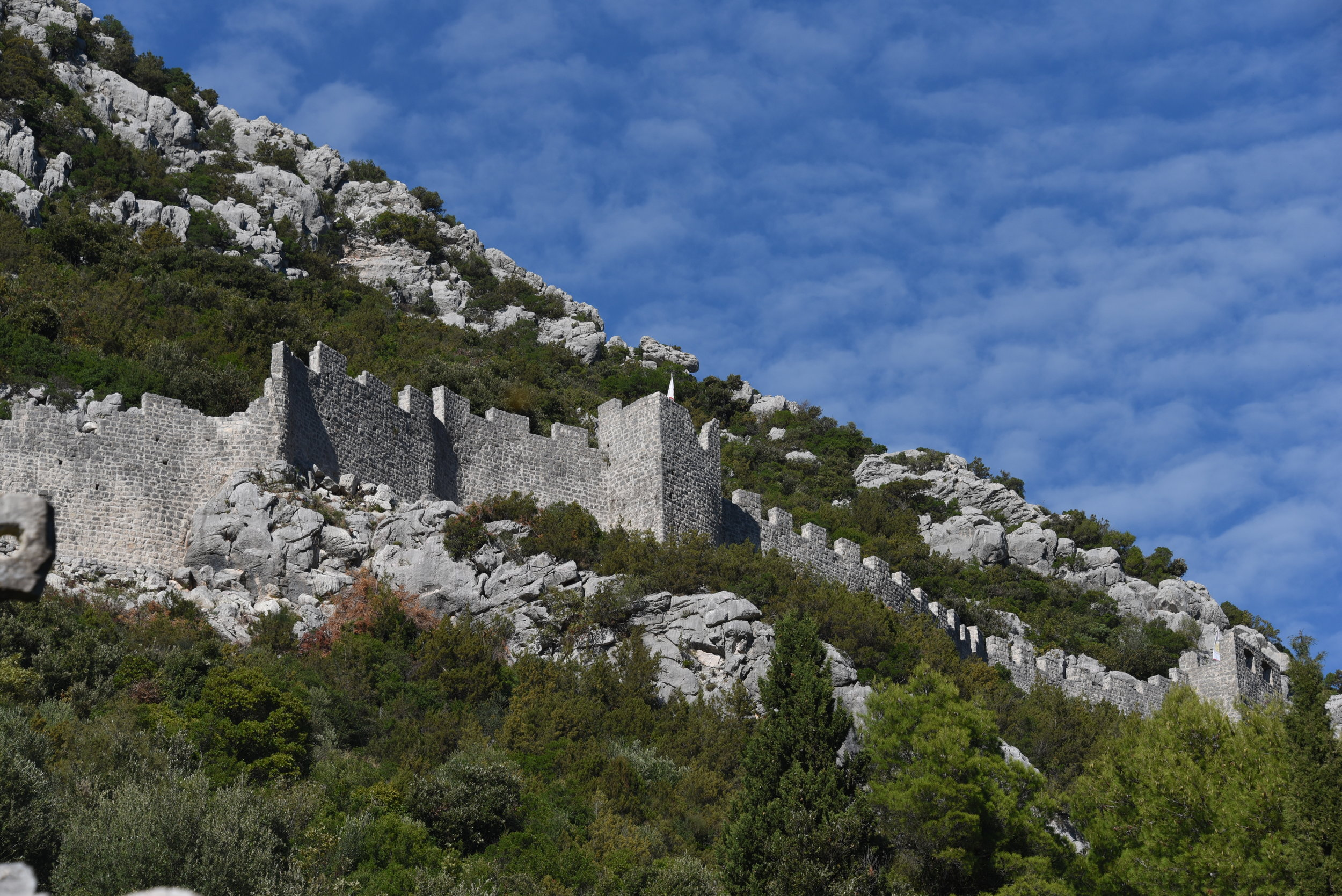 The walls in Ston.