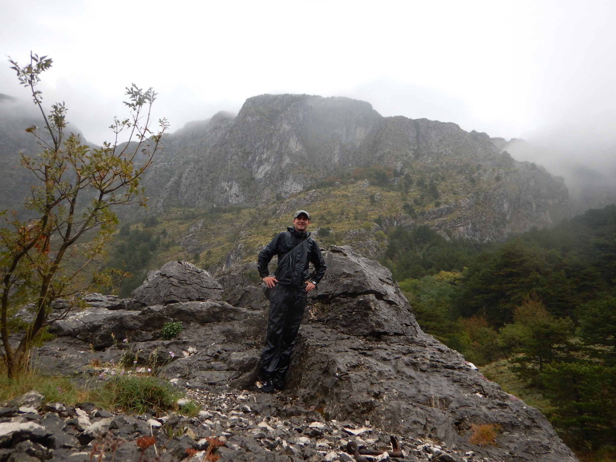 A wet hike up the Ladder of Cattaro (Kotor). So wet - and more importantly, dangerous alone - I decided to turn around after three and a half hours. Not quite to the top. Darn.