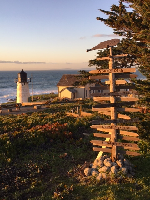 A highlight of my hotel stays: The bed & breakfast at Point Montara lighthouse. The signpost is a bit indicative of how I feel... so many directions and places I could go. I'm doing my best to figure it out and get going!!