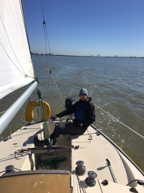My new office = a J24 and the San Francisco Bay!