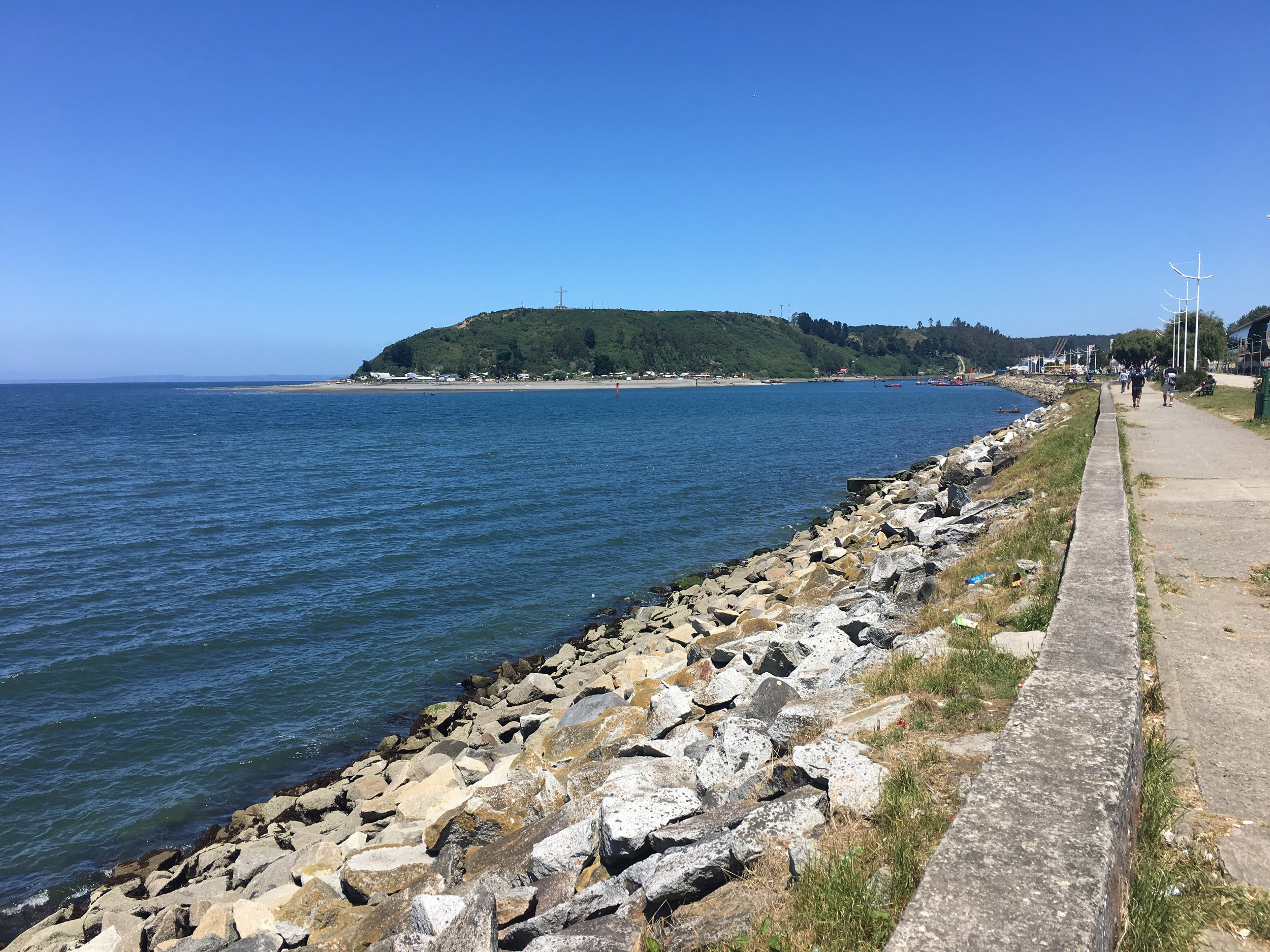 The promenade in Puerto Montt.