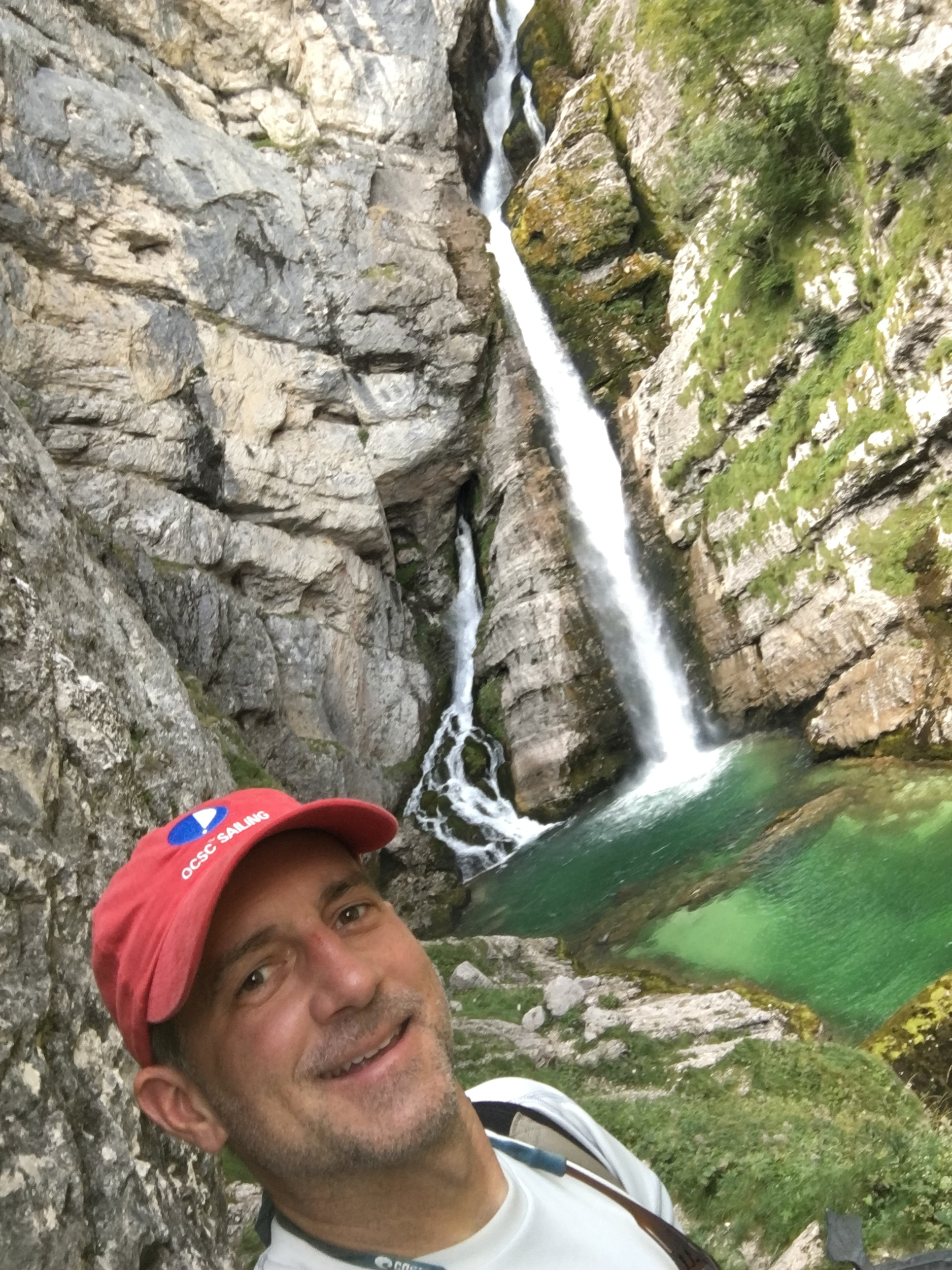 One more of the waterfall, with me in the picture this time. :-)