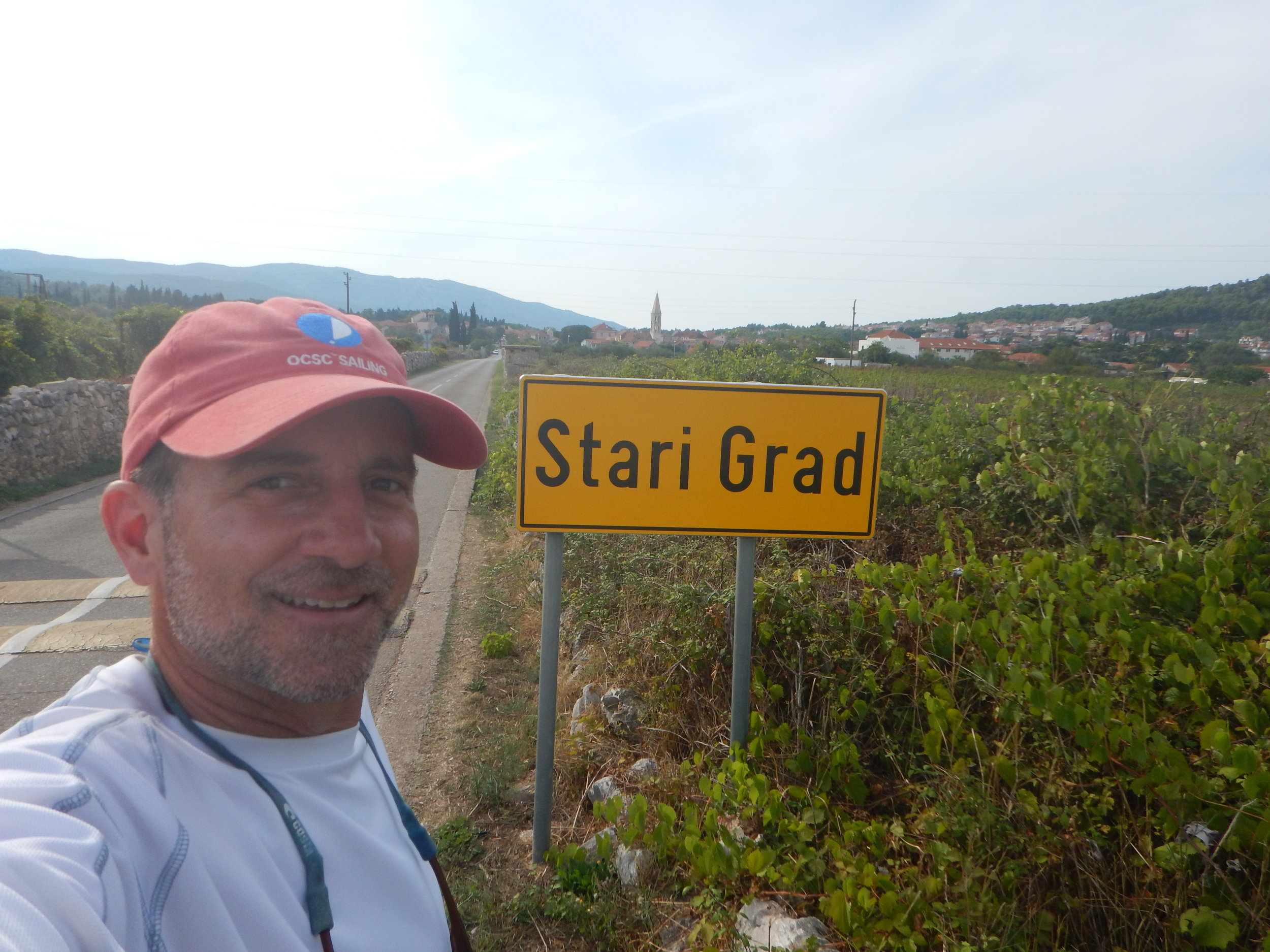 We visited Starigrad on the island of Hvar. I had a great hike through the vineyards.