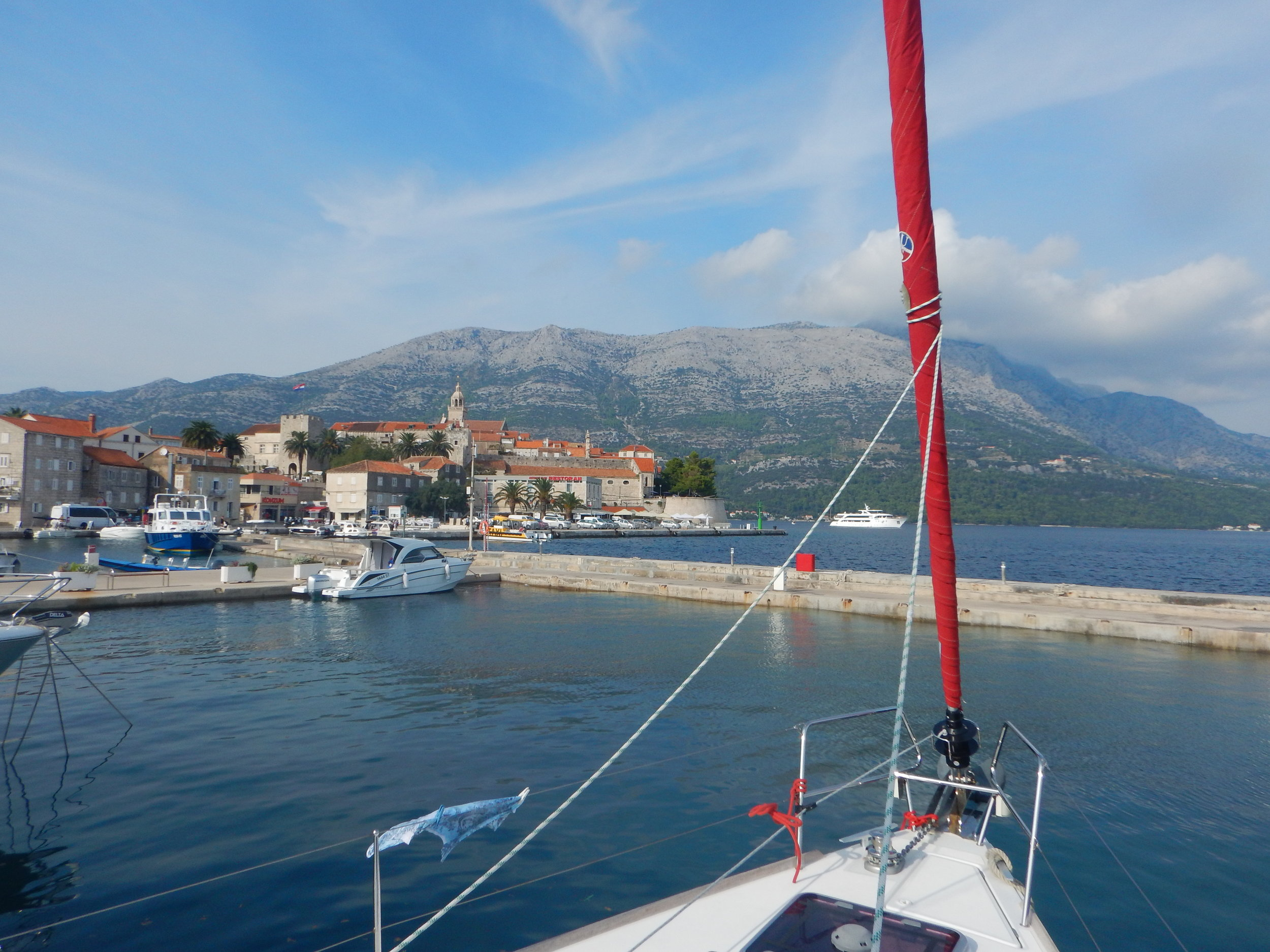 We docked at the ACI Marina in Korcula Town, on the island of Korcula.