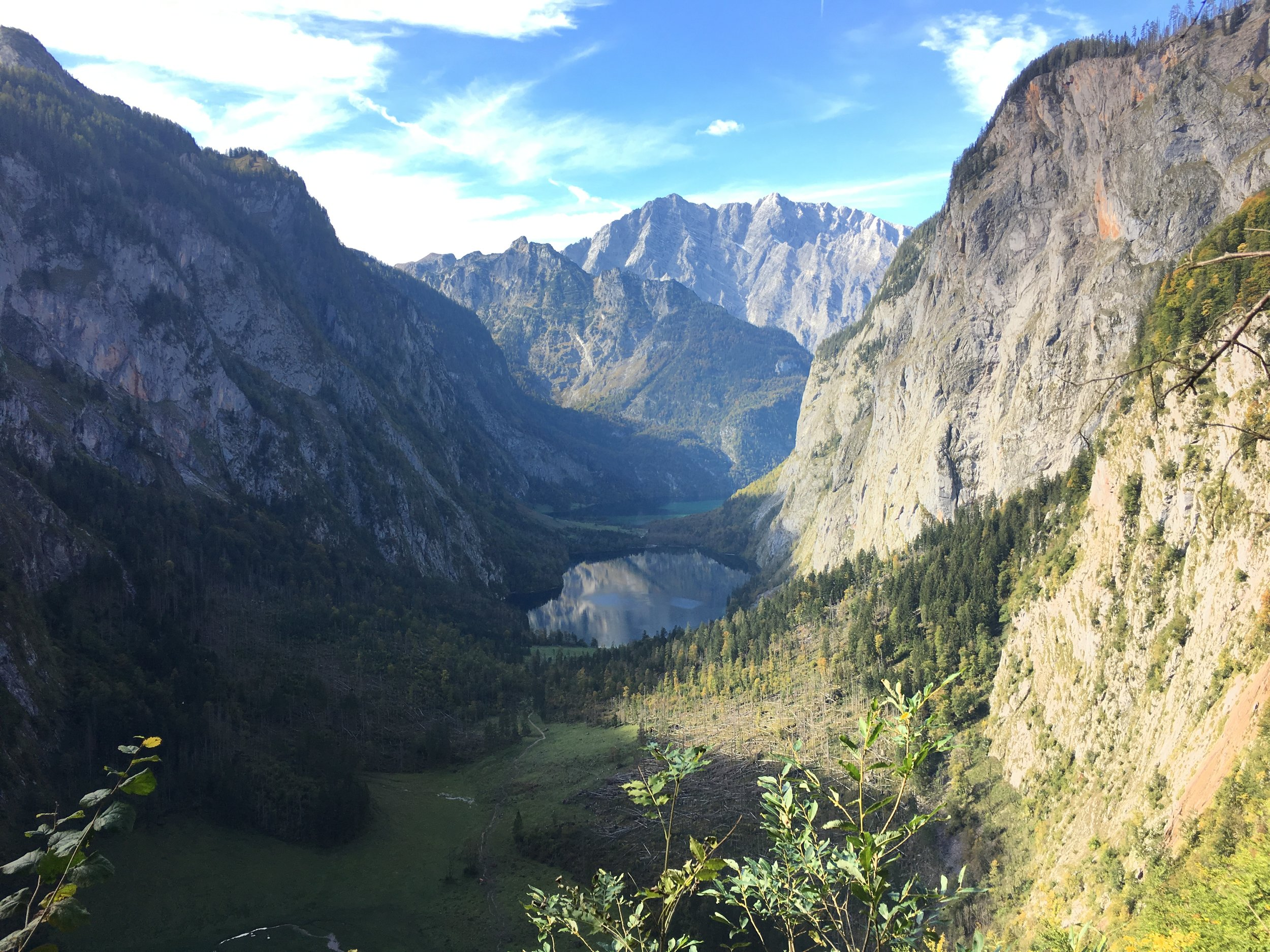 Obersee and Konigssee lakes.