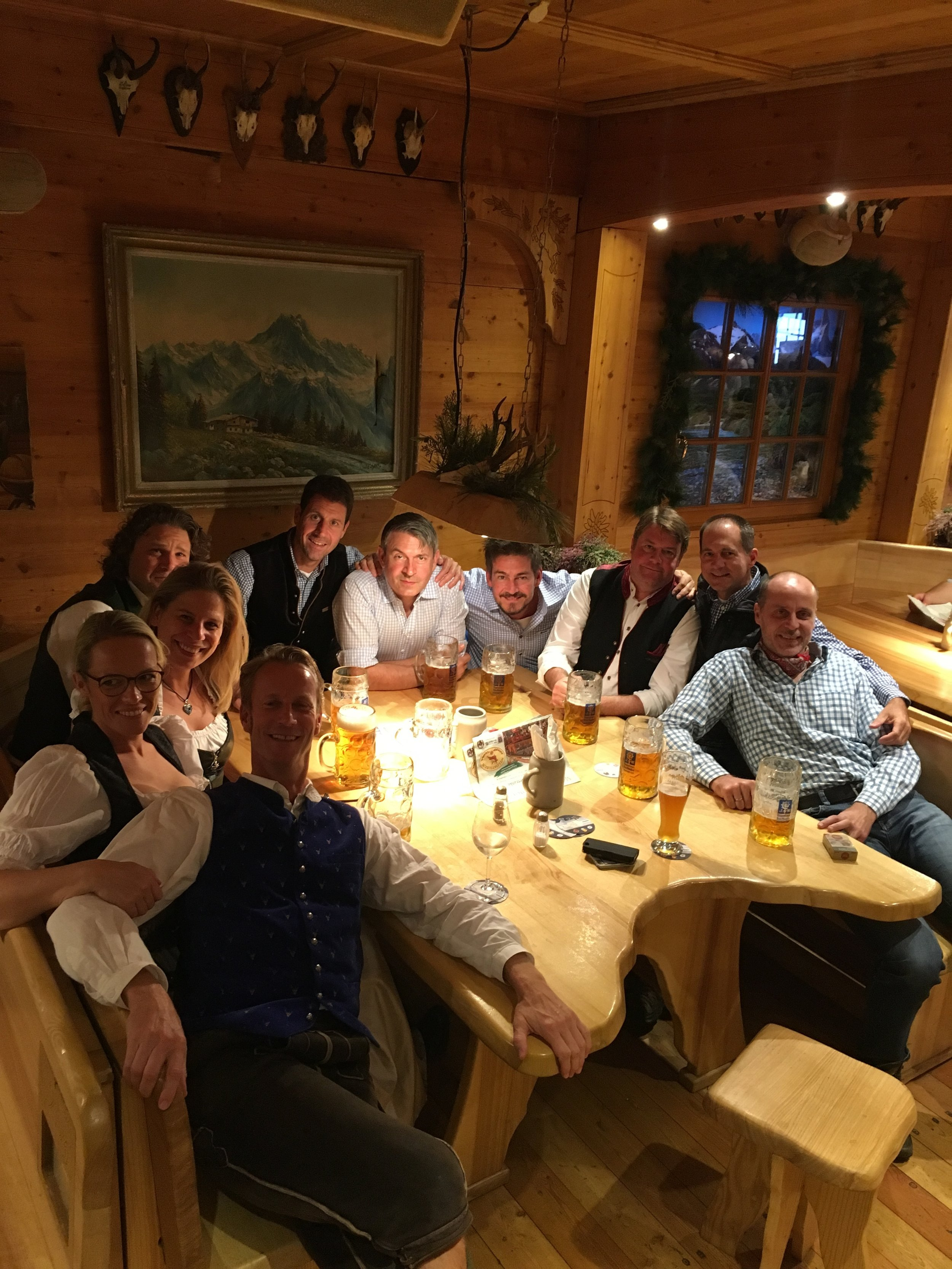 A few friends joined us for dinner at Wildstubel.