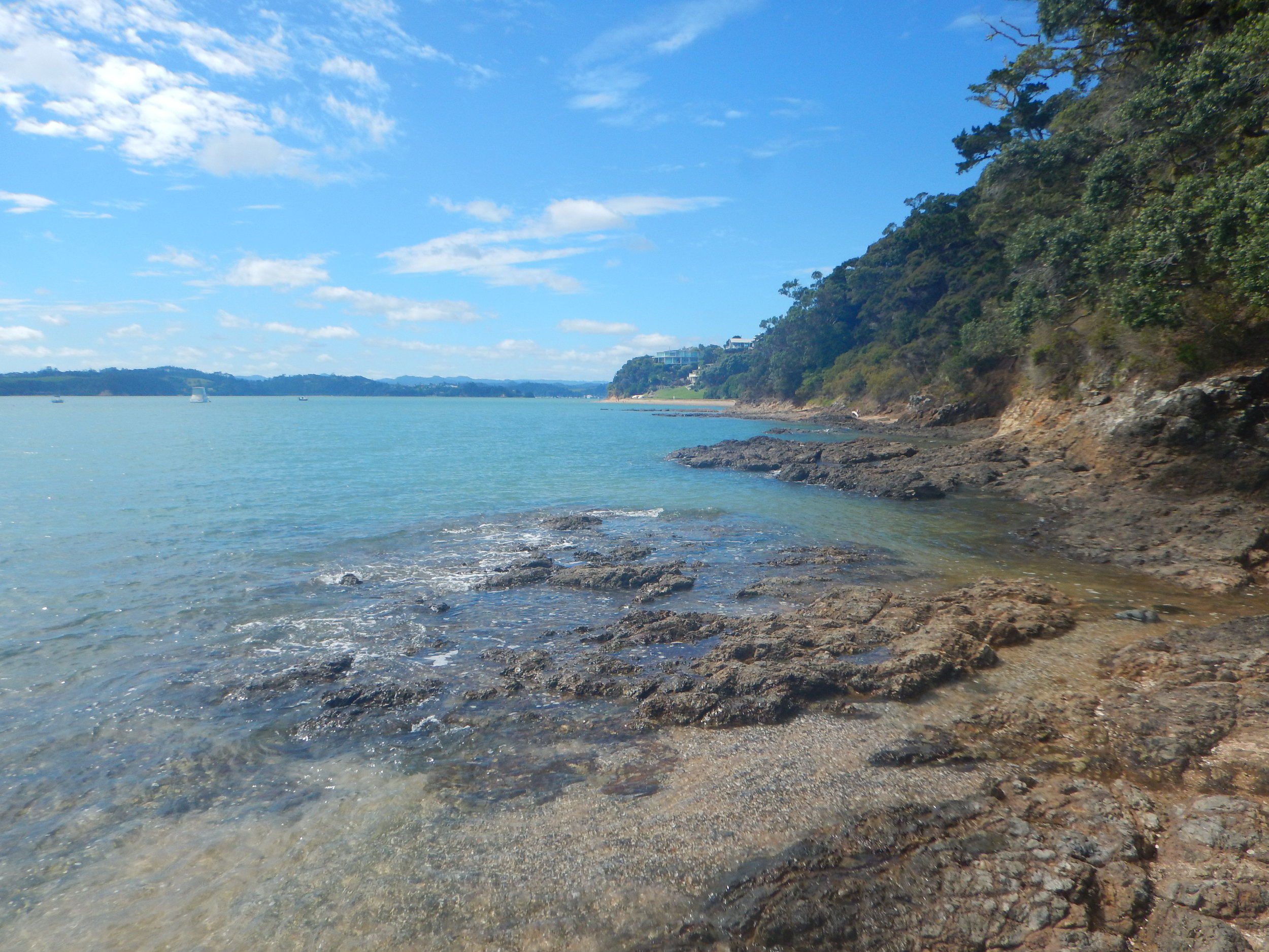 Part of the walk between Opua and Pahia is right along the coast.  Make sure you check the tides!  (High tides might make trail impassable.)