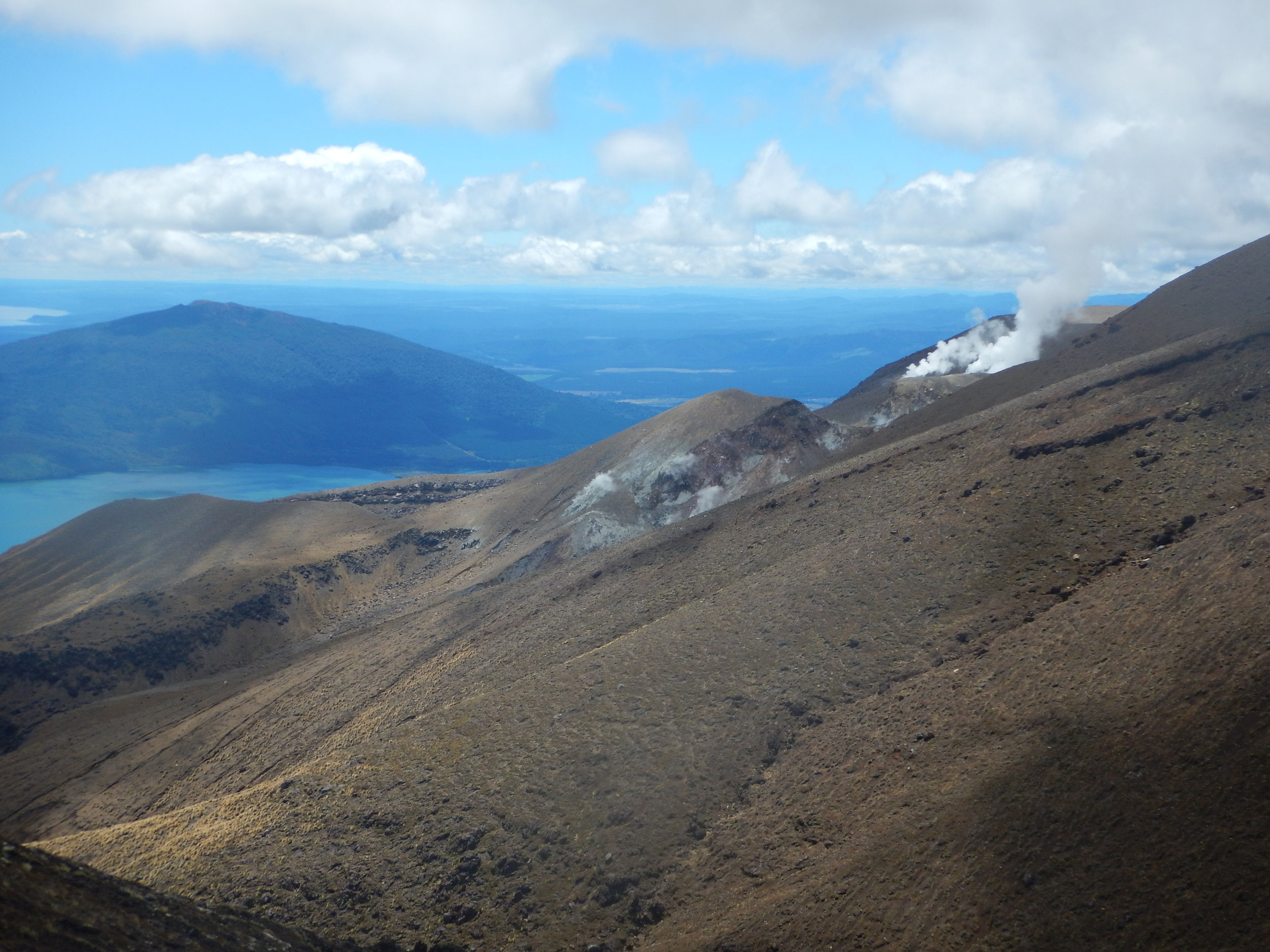 And the descent down to Ketetahi car park. It's a long windy walk down with a great view.