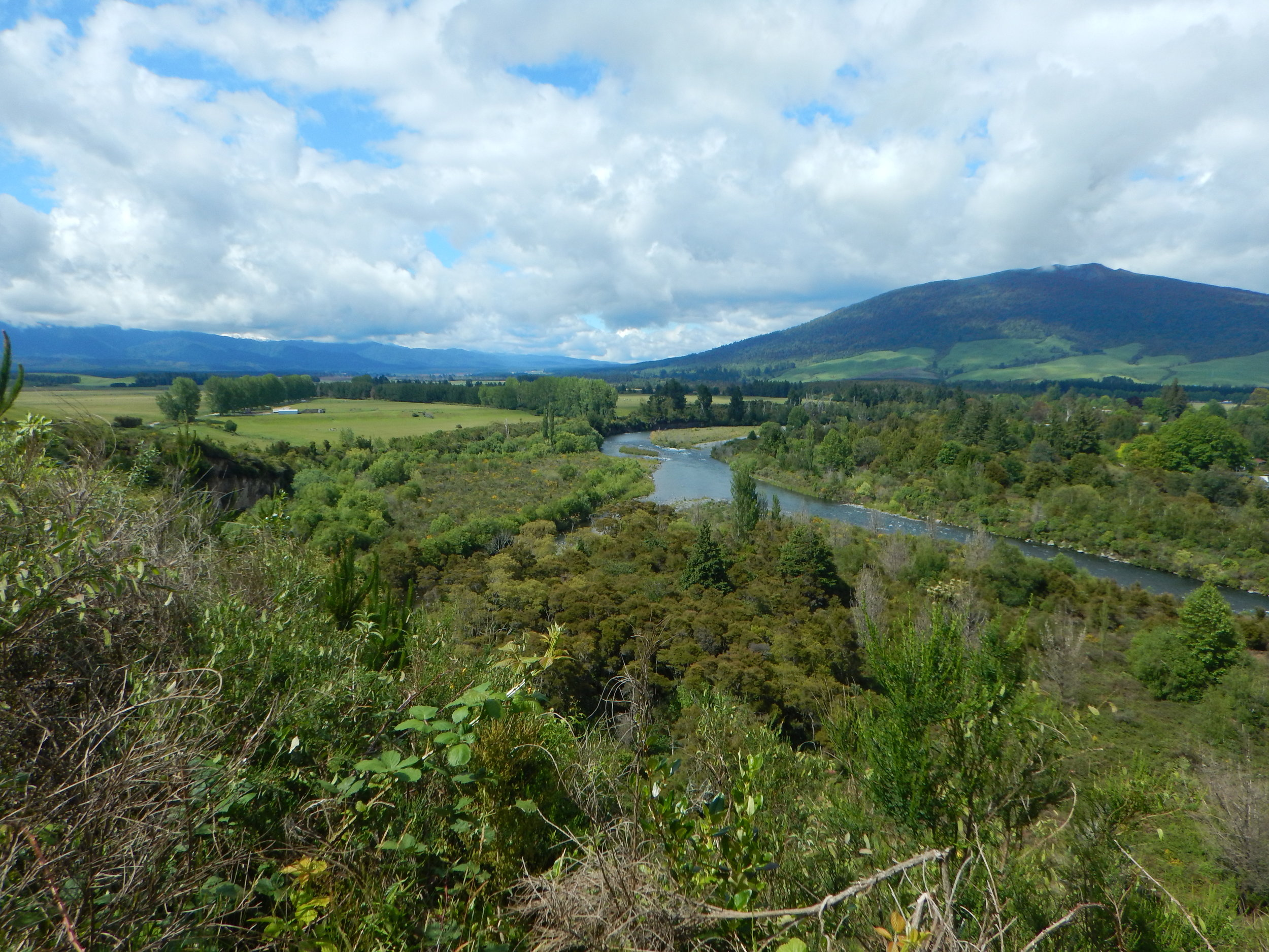 Setting out on the Tongariro River Trail.