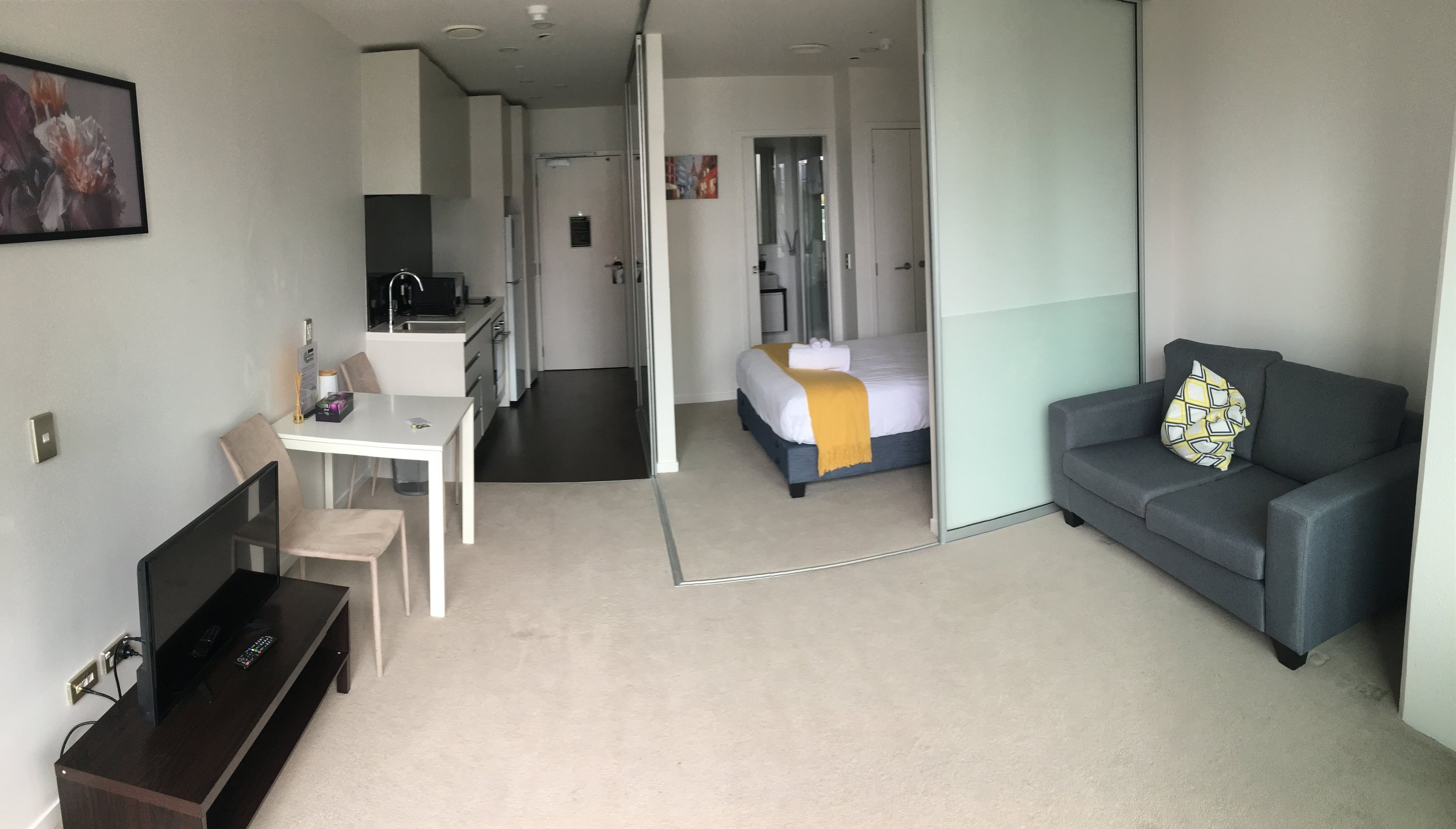 Star Victoria Serviced Apartments - very comfortable with lots of amenities, in particular a washer/dryer for this weary traveler.