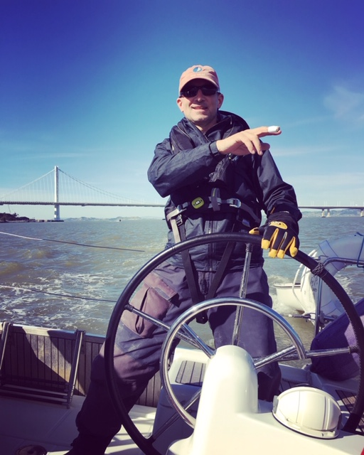 Cruising around the San Francisco Bay for 3 days, 2 nights, as I was being evaluated (and eventually certified) as U.S. Sailing Cruising Instructor!