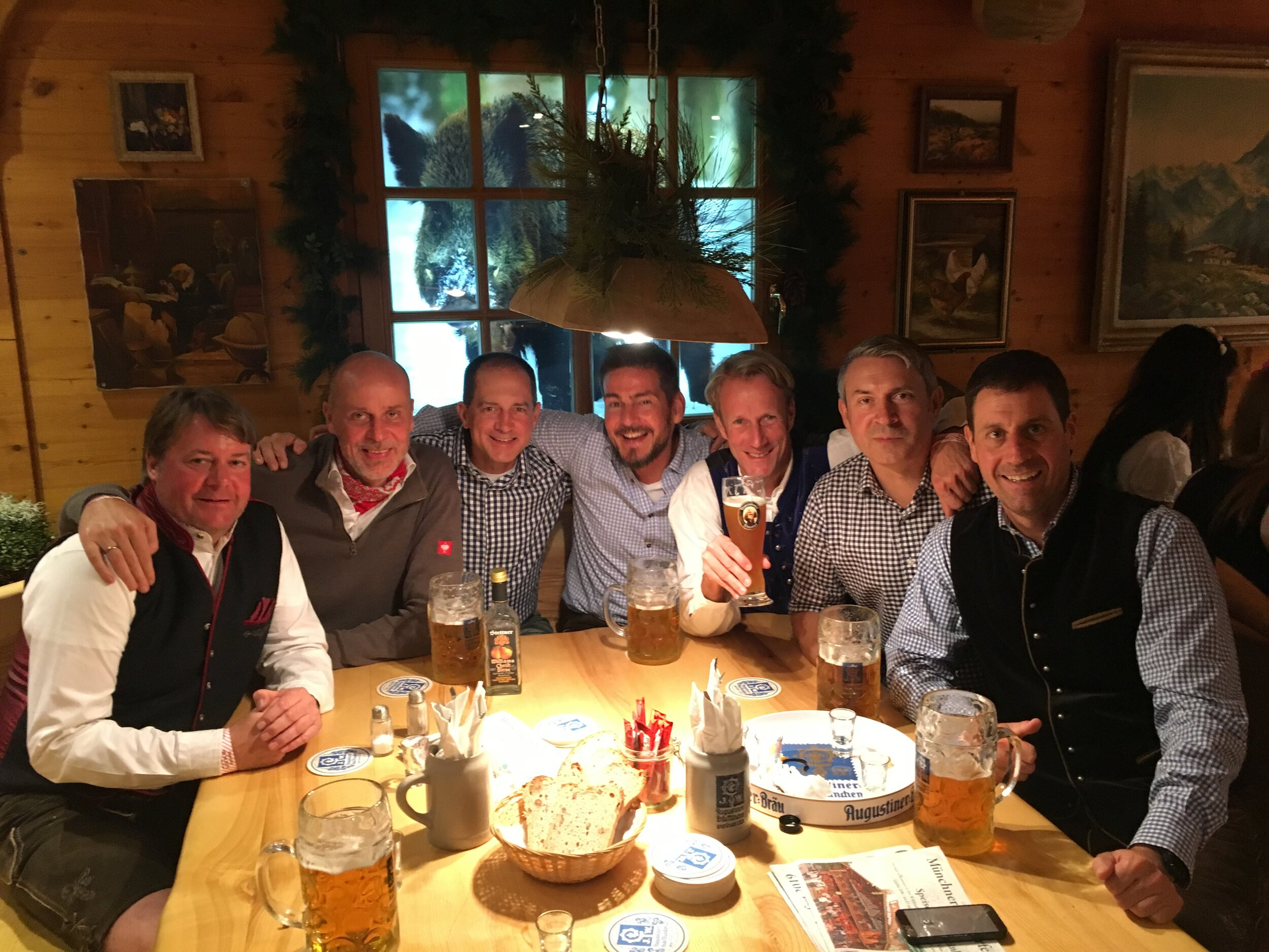 THE GANG OF GUYS AT WILDSTUBEN, CELEBRATING GREAT HIKING AND WIESN 2019! SERVUS! PROST! DANKE!