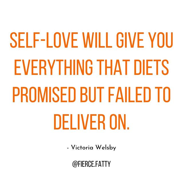 SELF-LOVE WILL GIVE YOU EVERYTHING THAT DIETS PROMISED BUT FAILED TO DELIVER ON.  What does dieting promise us? Happiness, love, self-worth, confidence, health, Channing Tatum blowing up our cell phones when he sees how skinny we now are... What does dieting give us? Disordered eating habits and eating disorders, disappointment, lower self-esteem, damages our health, makes us bigger, teaches you you're a failure... The answer? Kick diets to the curb! Instead, choose body love, self acceptance, body neutrality. Loving yourself will give you all the things that dieting promised but failed to deliver on.  I can't promise Channing Tatum is gonna be DM'ing you though...sorry 😂 . . . . . . . . . . . . #bossbabe #bampowlife #confidence #byebyebshellobodylove #selflove #fatshion #feminist #selfesteem #intersectionalfeminism #bodylove #effyourbeautystandards #loveyourself #everybodyisbeautiful #riotsnotdiets #wearwhatyouwant #byebyebshellobodylove #womensupportingwomen #girlboss #effdietculture #bopowarrior #strongwoman #healthateverysize #losehatenotweight #bodyconfidence #bodypositive #bosslady #haes #beautyisnotgeneric #thebodyisnotanapology #bodypositivity