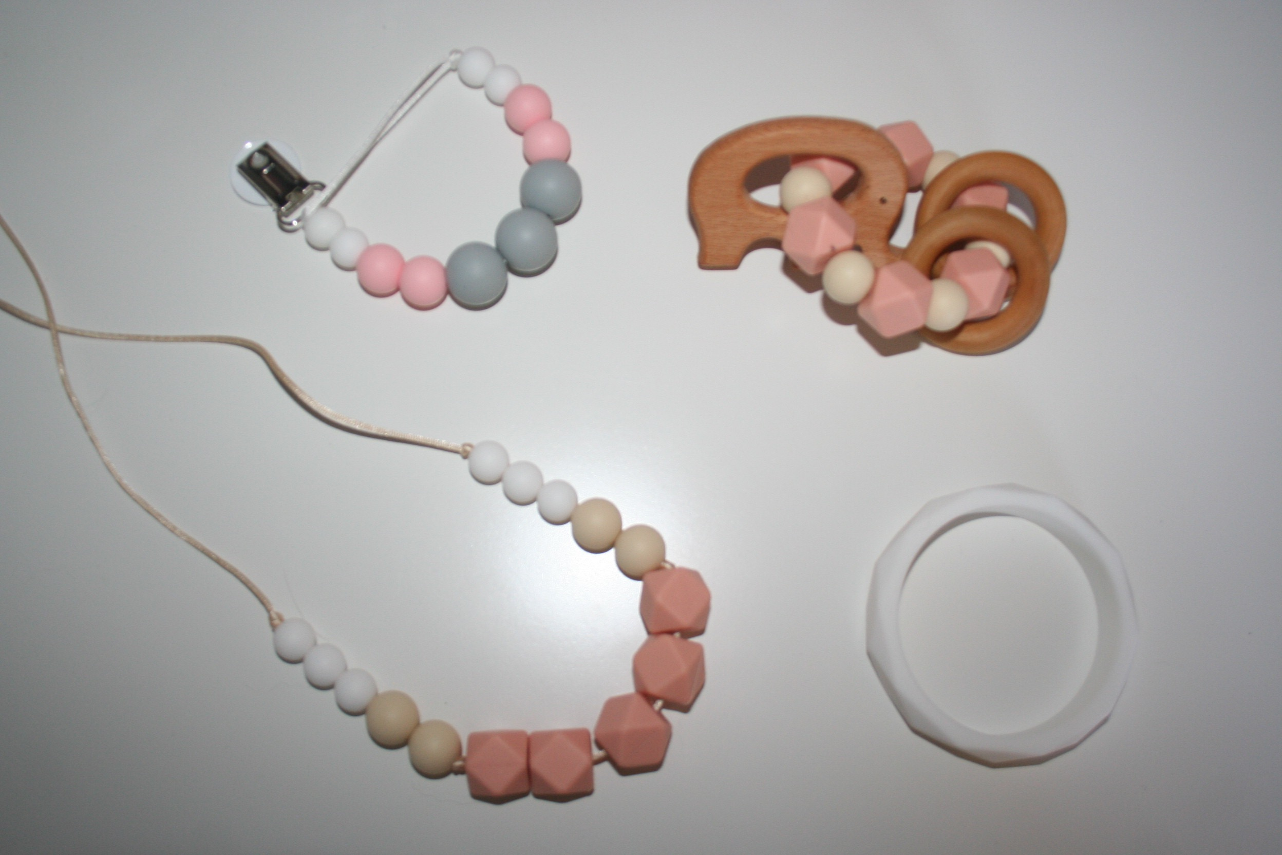 How gorgeous are these teething things from Elephant Shoe Teething Co.!? Their shop is absolutely gorgeous, we love it so much!  www.elephantshoeteethingco.com  - I'll be doing a complete post on these bad boys once the girls arrive!