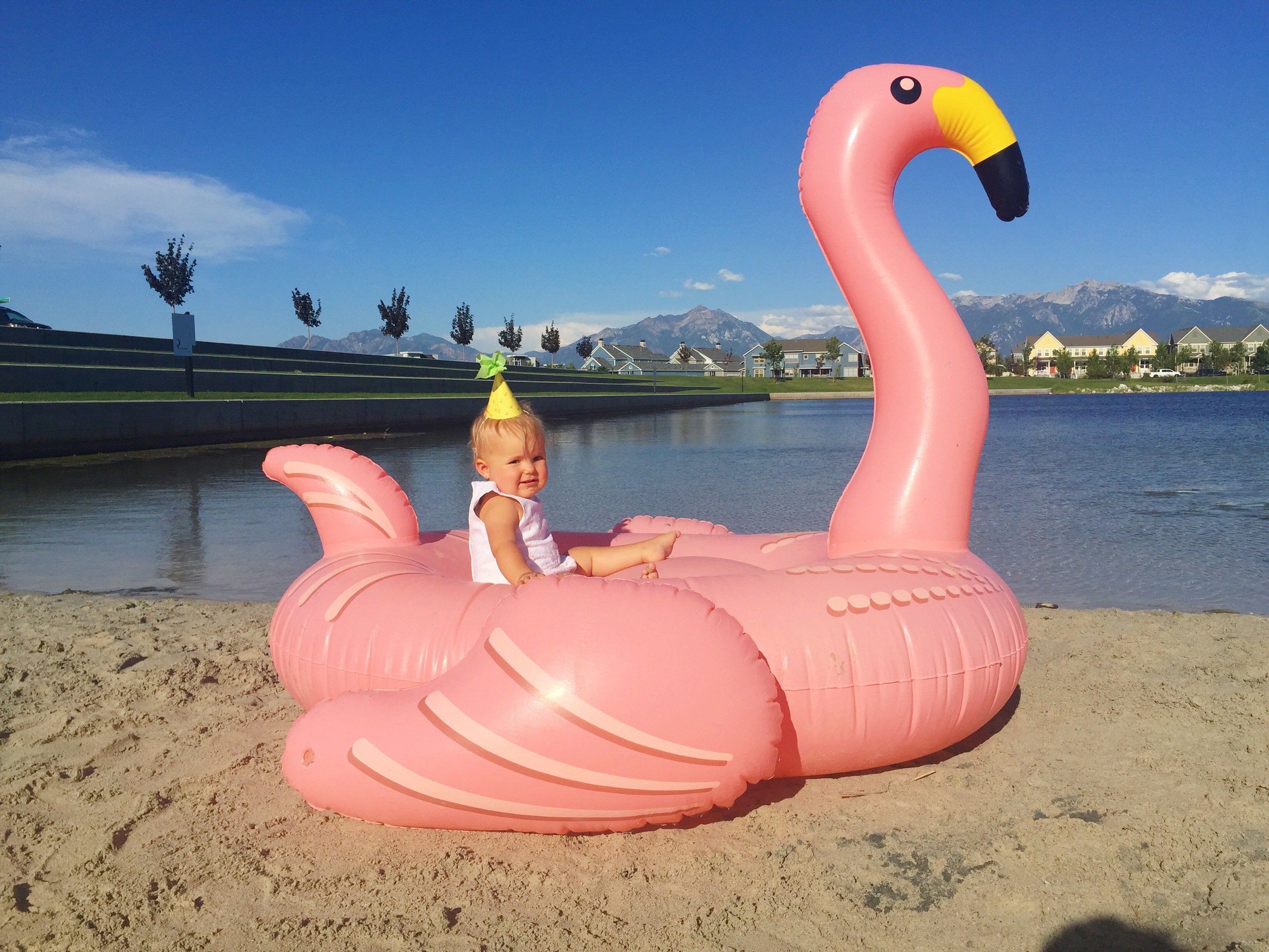If you're ever in need of amazing pool floaties, like this pretty flamingo, Urban Outfitters has you covered. But don't buy them all so there are none left for me!