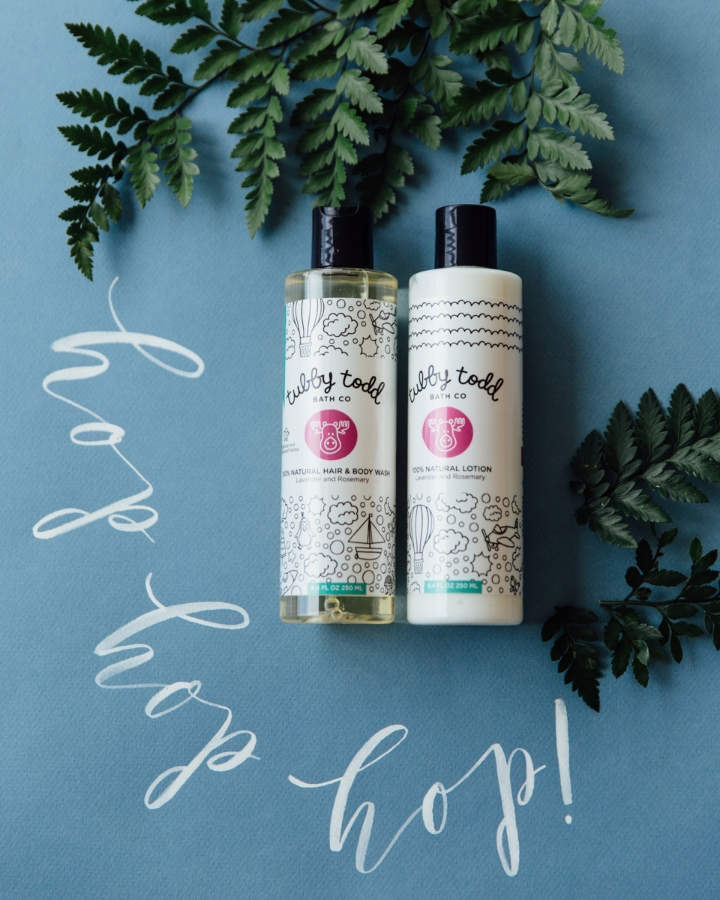 Bath Products: T ubby Todd , Calligraphy: Whitney Perdue Designs