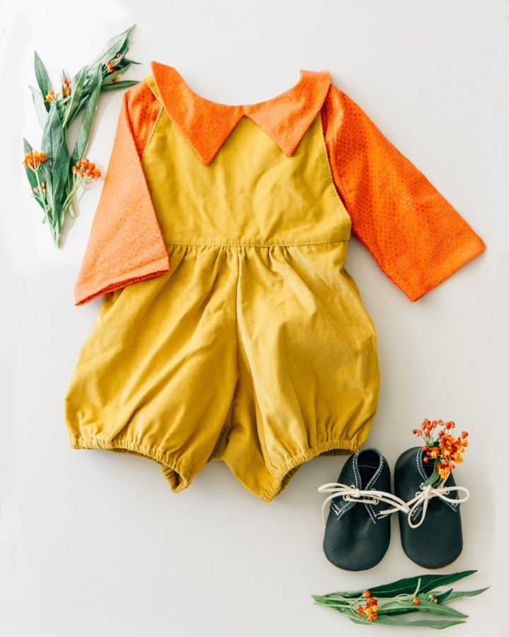 top: the crafted co, romper: mabo, shoes: mon petit shoes