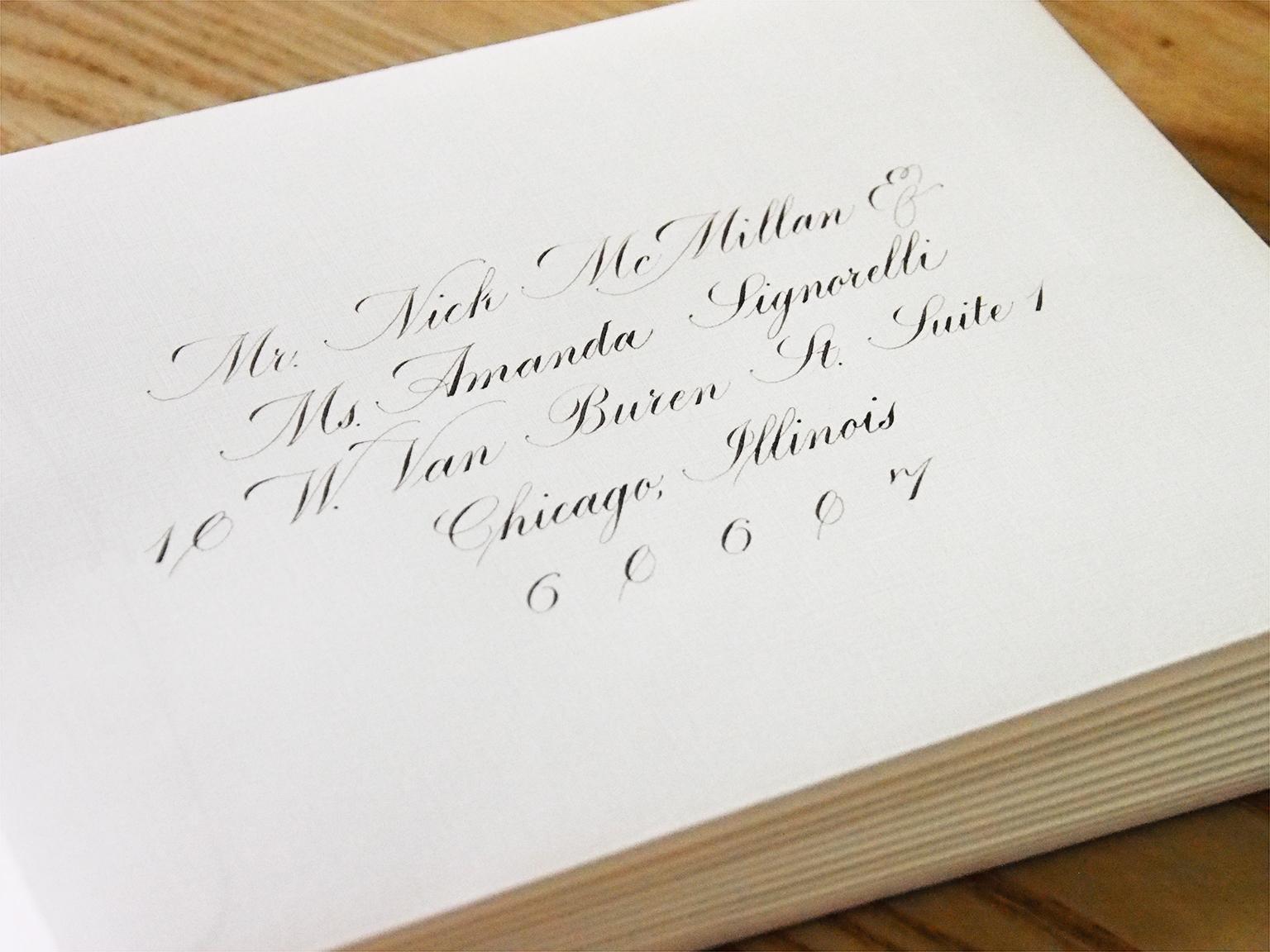 Engrosser's Script Envelopes