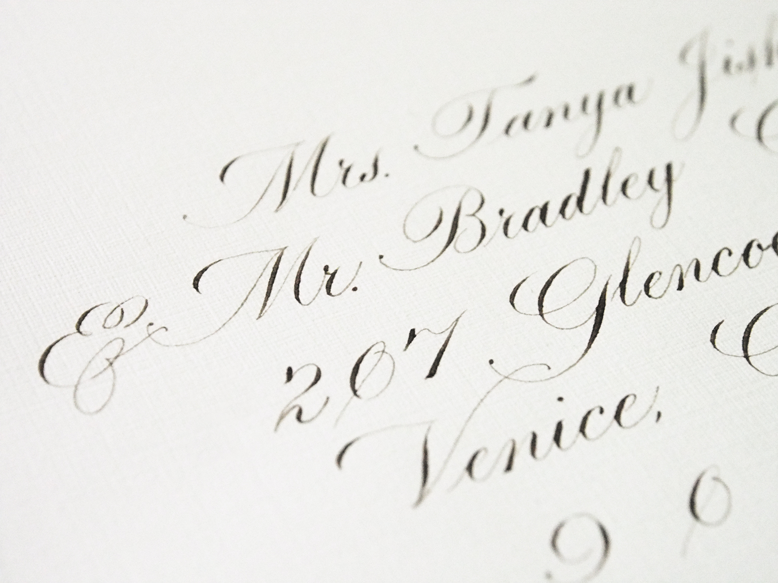 Engrosser's Script Envelope Addressing