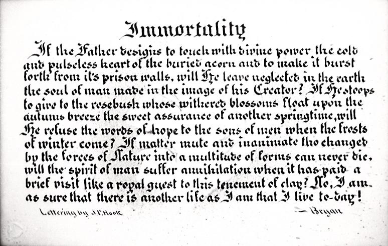 Immortality - broad edge
