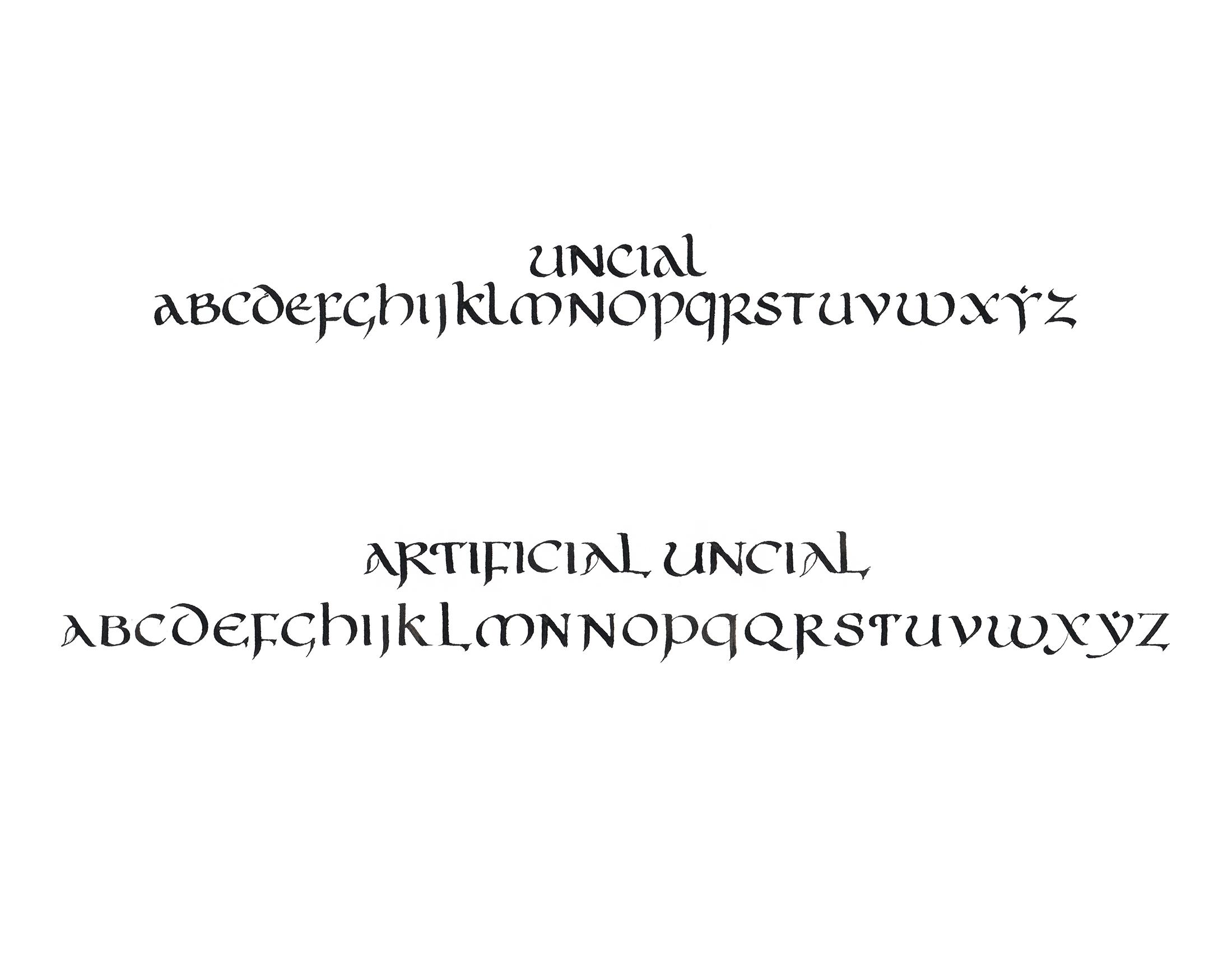 Uncial Variations