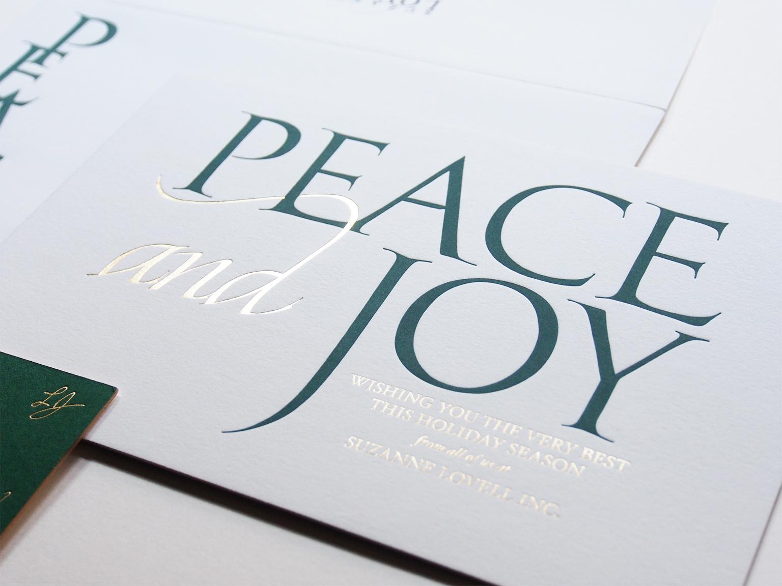 Peace and Joy Card Design