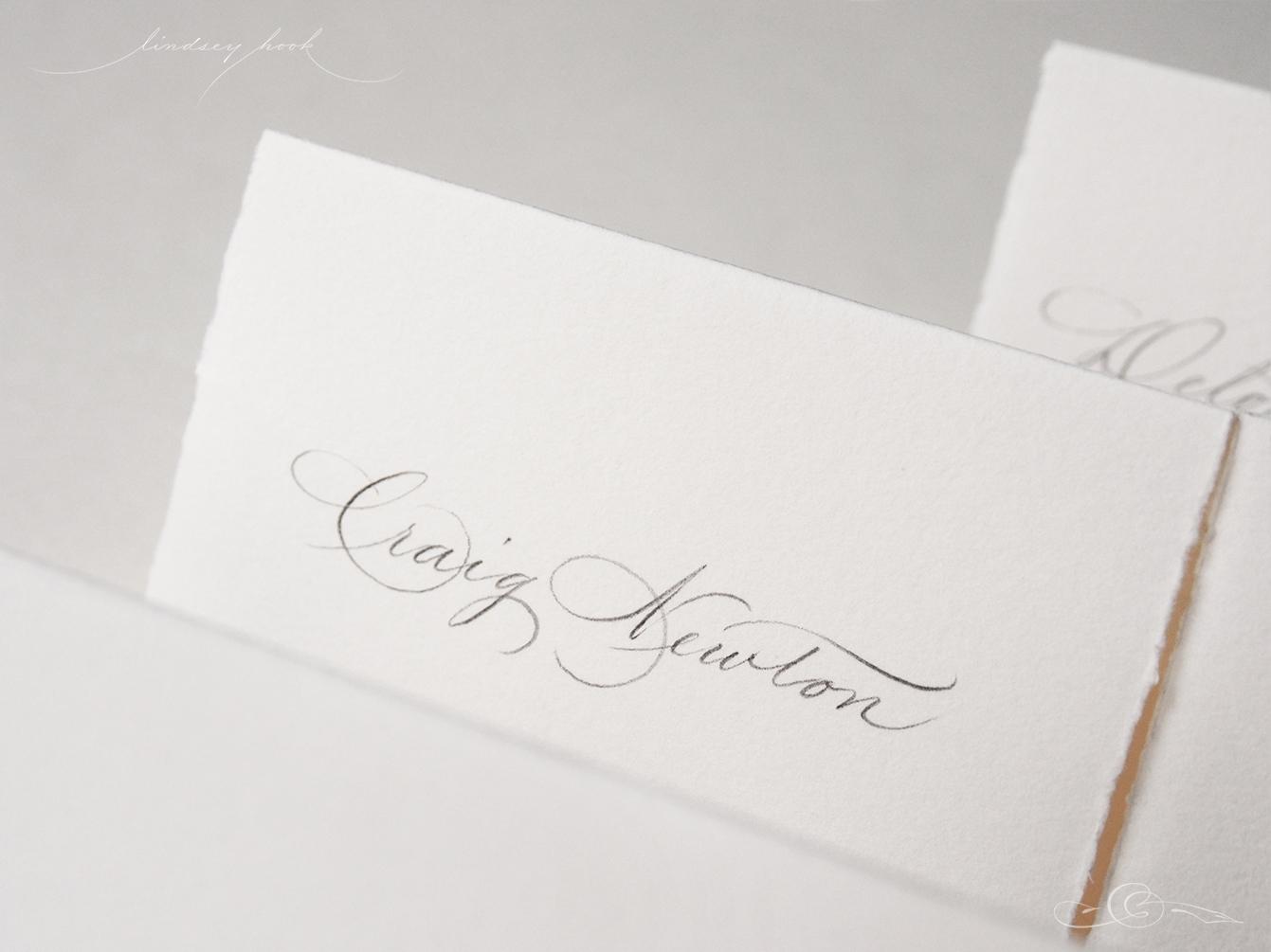 Spencerian Name Card