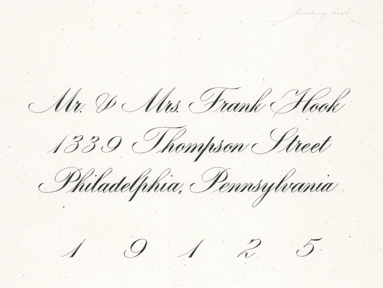 Engrosser's Script Envelope