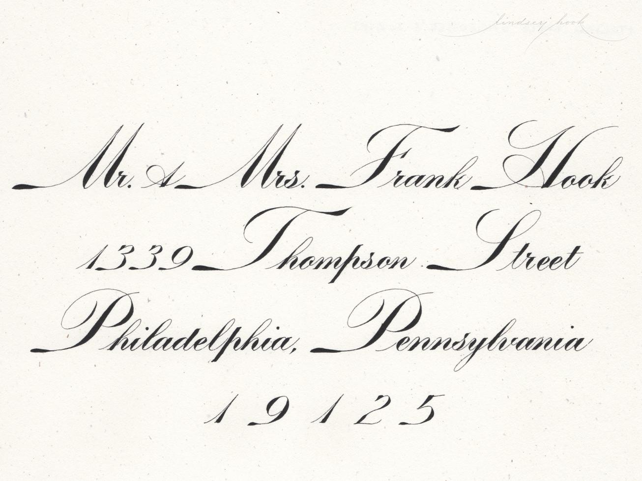 Engrosser's Script - Italian Variant Envelope