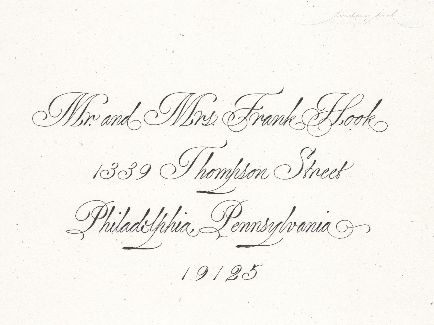 Traditional Italian Roundhand Envelope