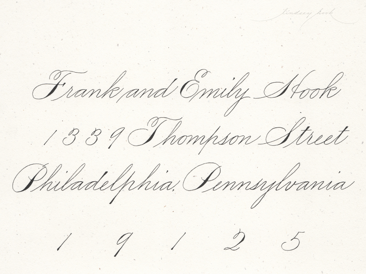 Simple Spencerian Script Envelope