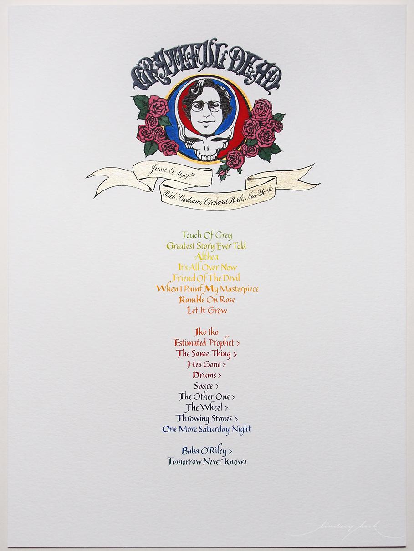 Grateful Dead Set List #2
